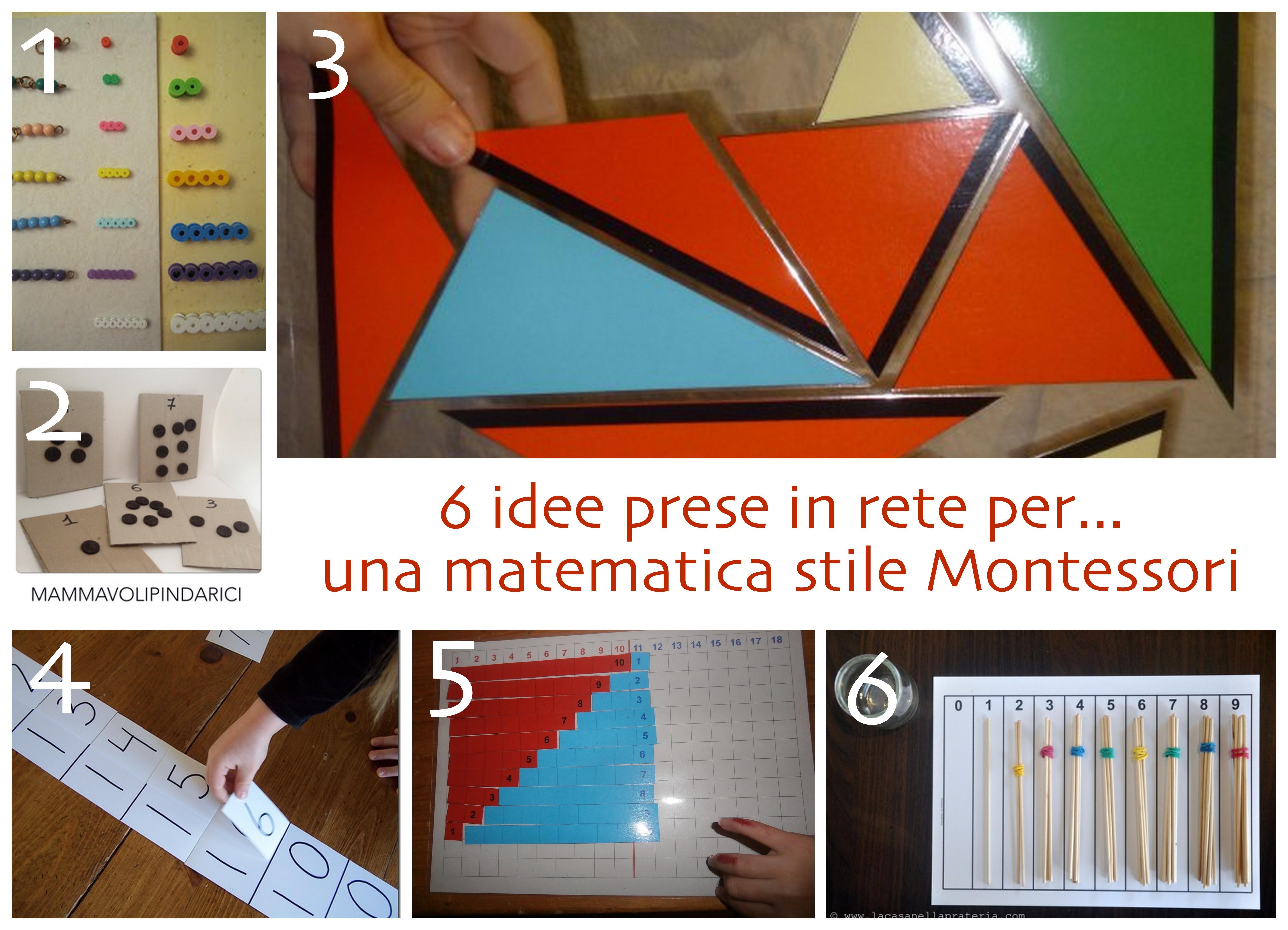 idee per matematica montessori fai da te
