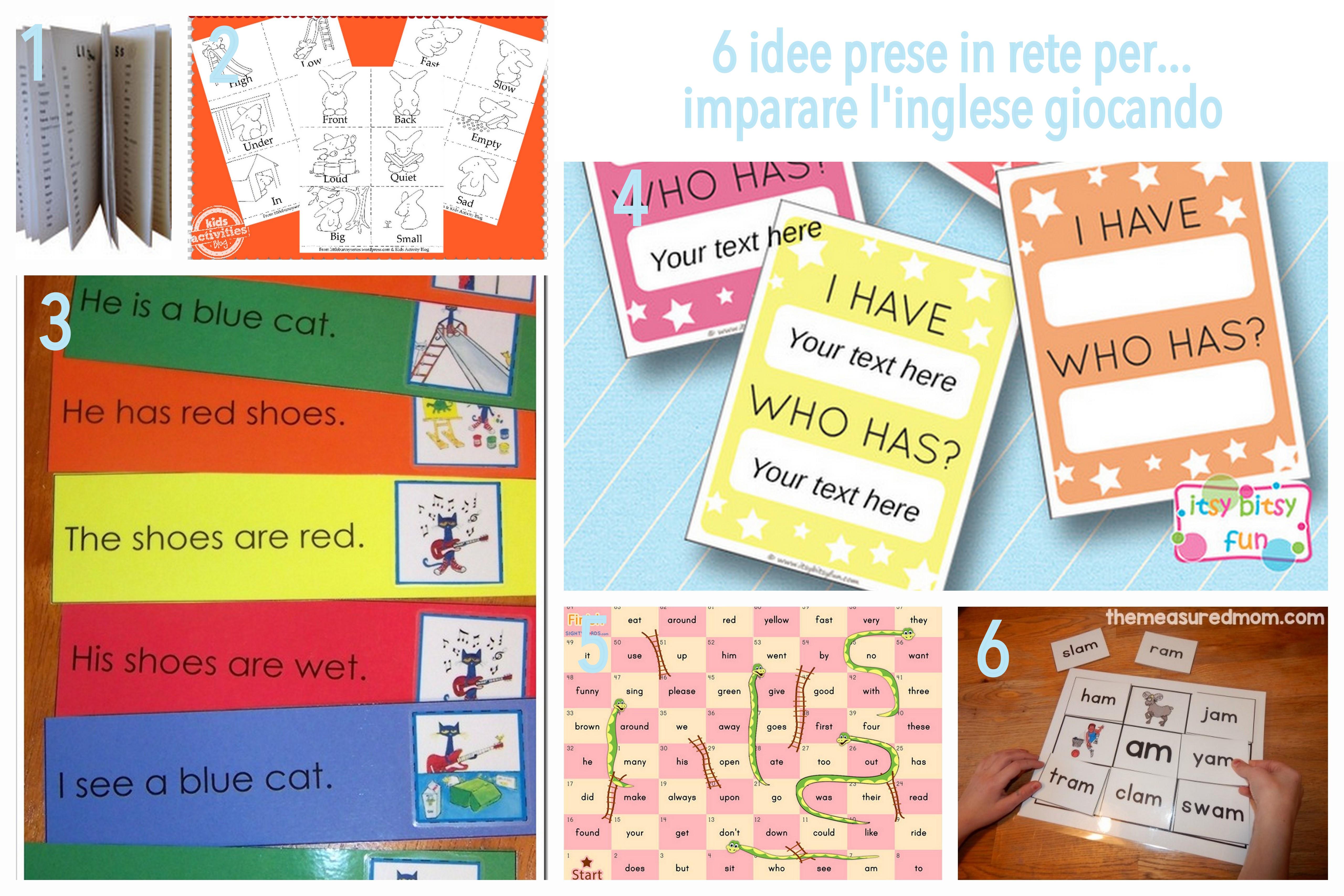 idee per imparare l'inglese giocando