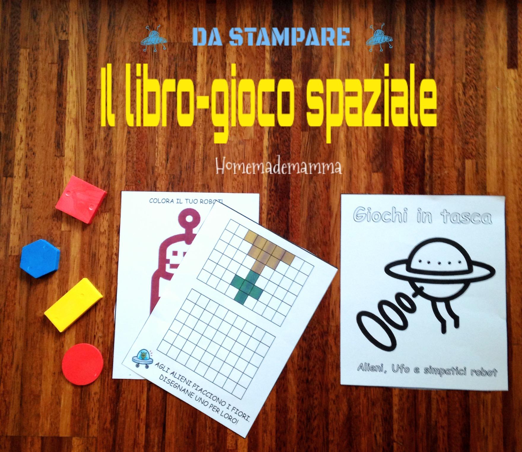 libro gioco tema spazio per bambini scuola materna