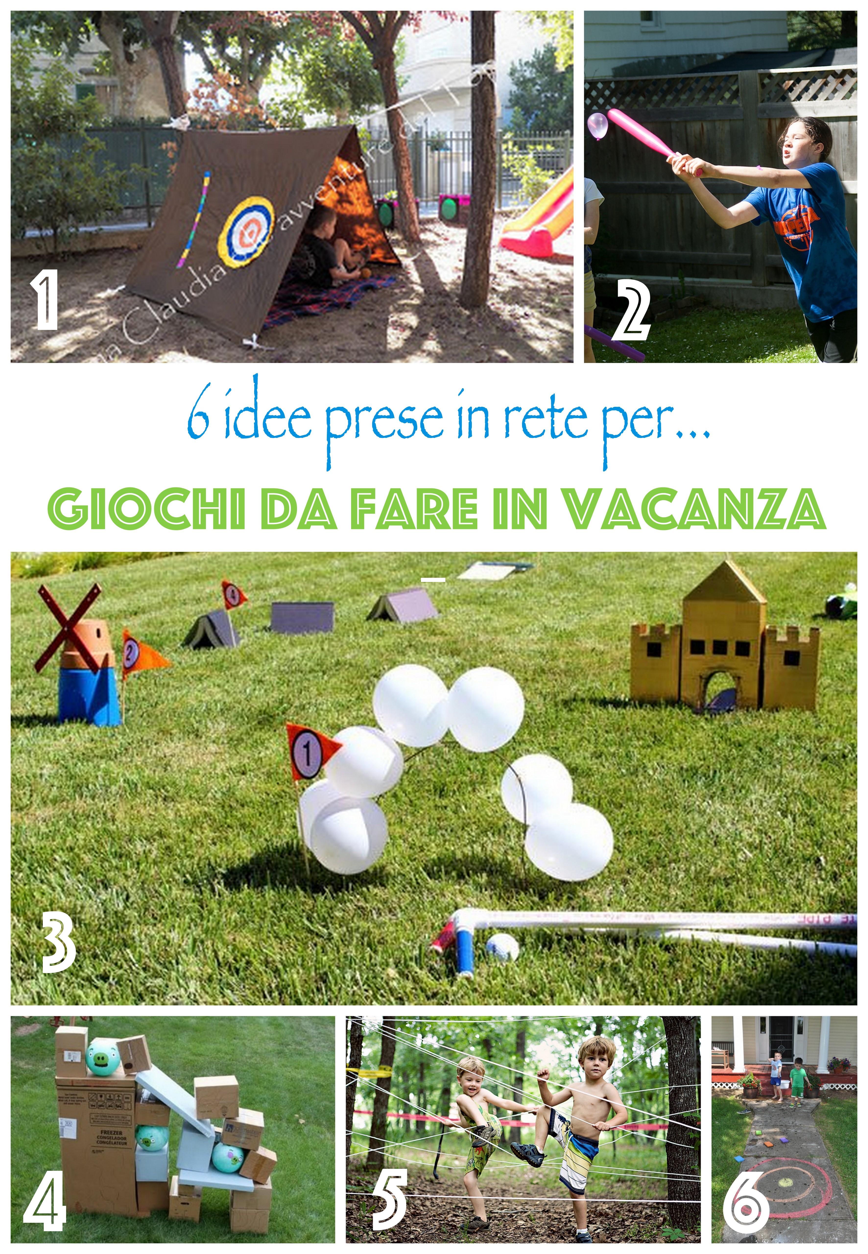 idee per attivitä e giochi da fare in vacanza