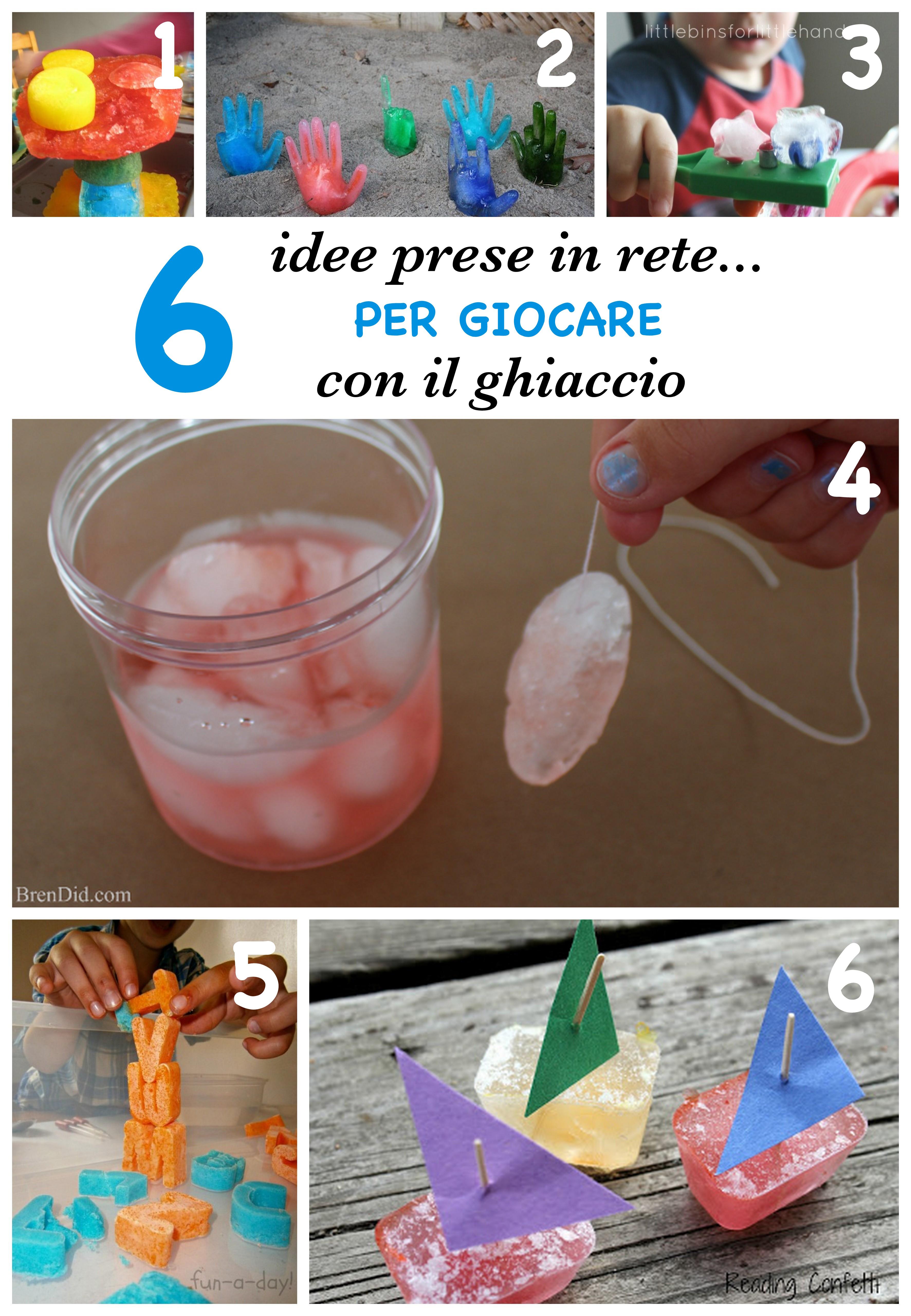 idee per giocare con il ghiaccio