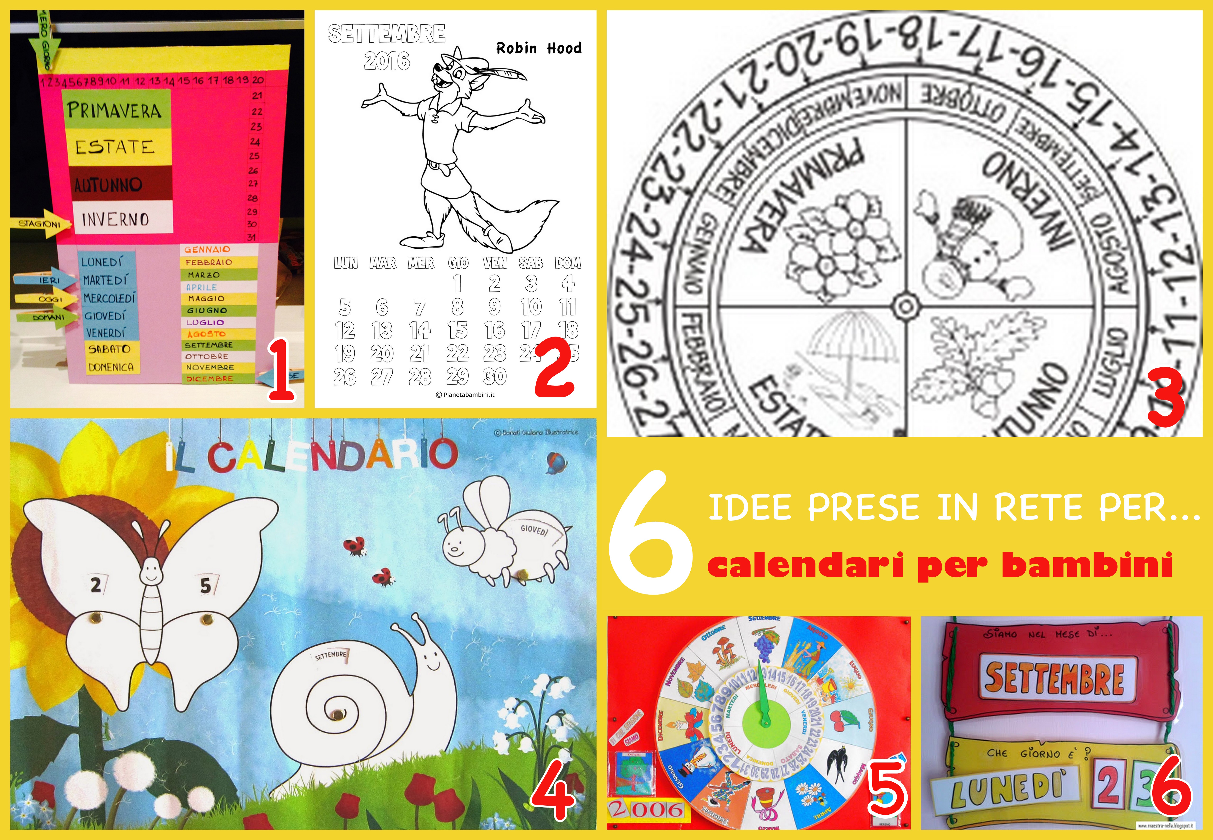 calendari per bambini da stampare