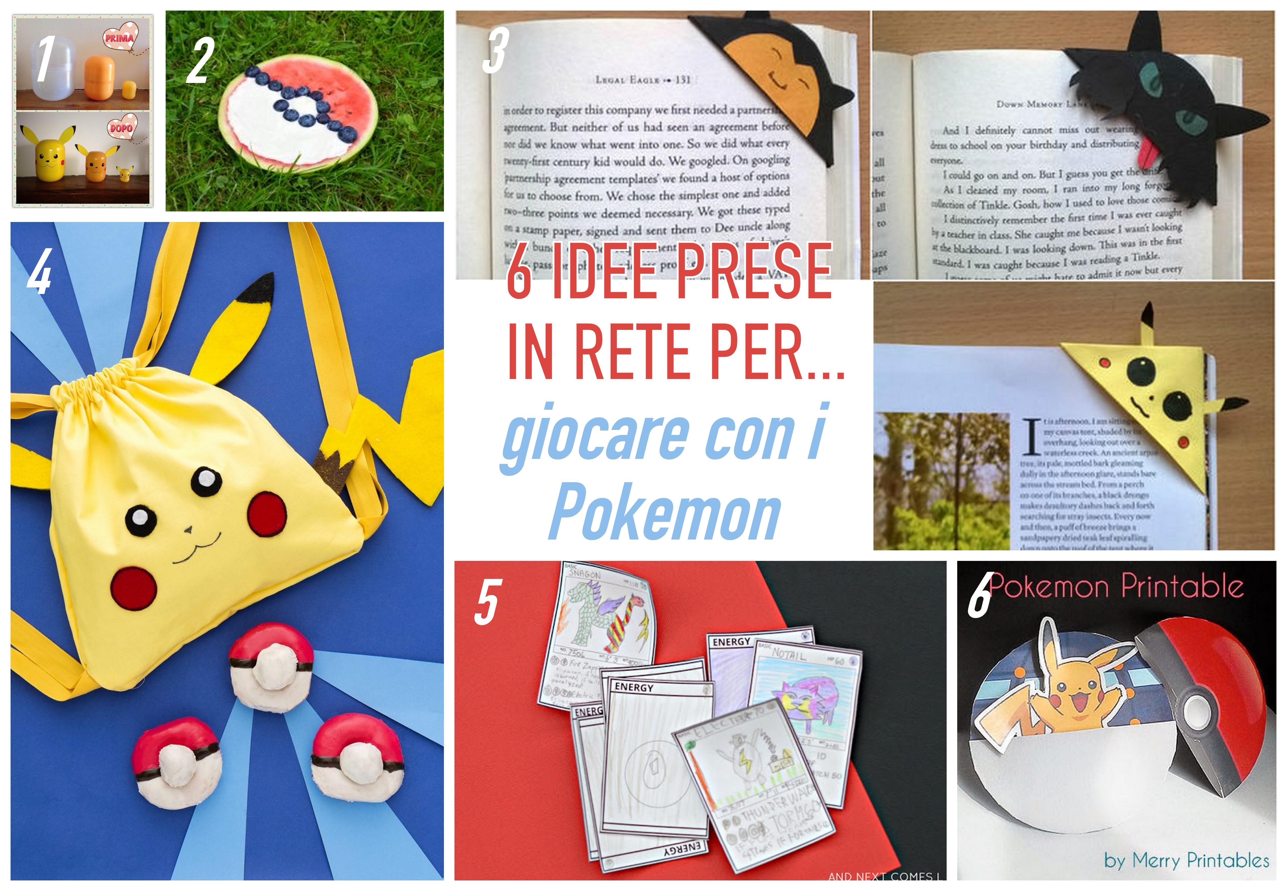 idee per giochi e attività con i pokemon
