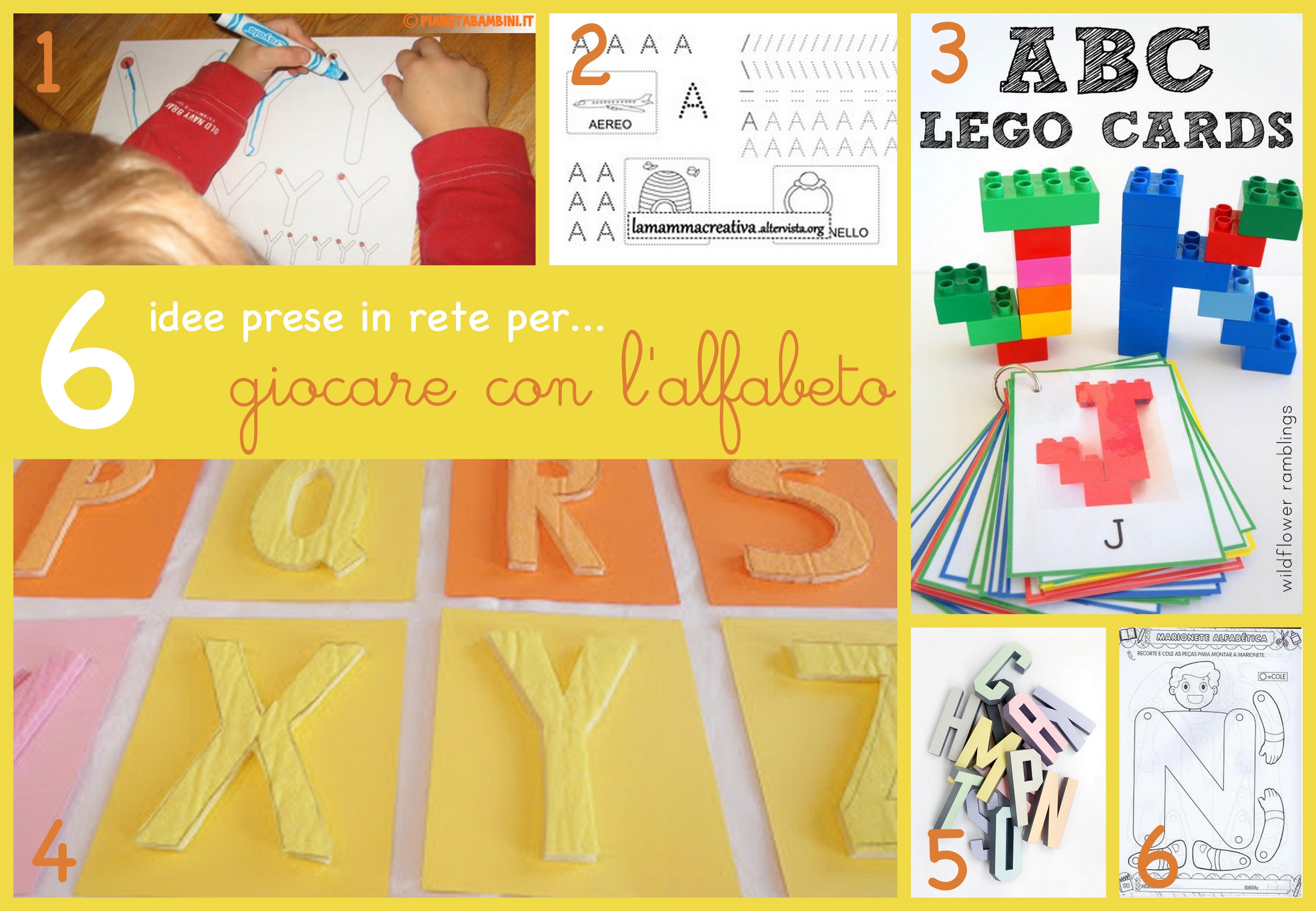6 idee prese in rete per… giocare con l'alfabeto