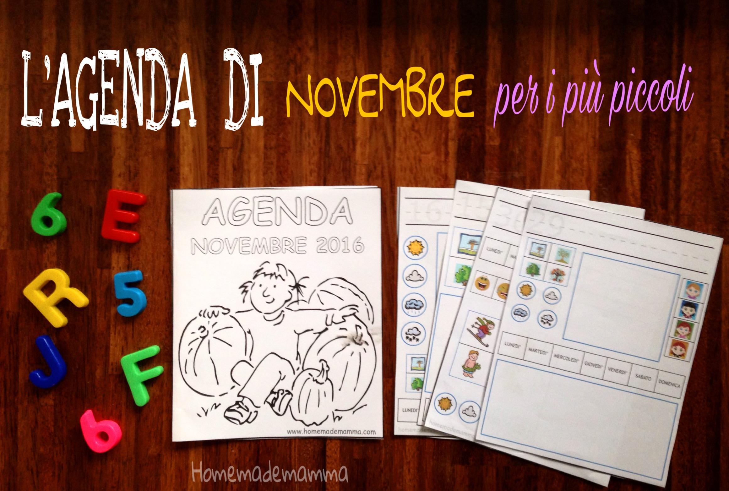agenda novembre da stampare bambini homemdemamma
