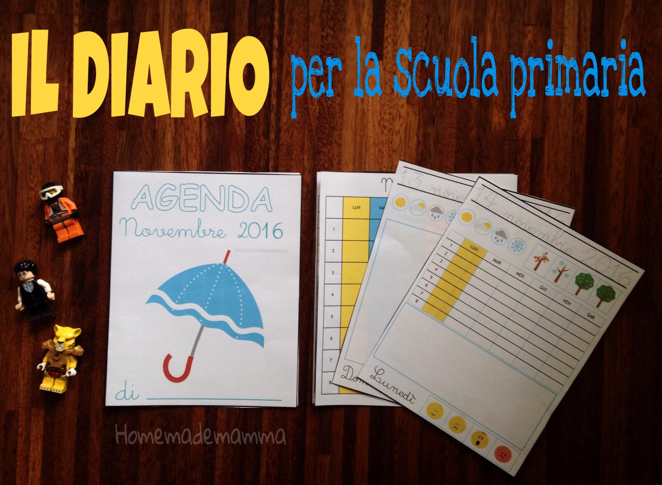 diario novembre scuola primaria da stampare