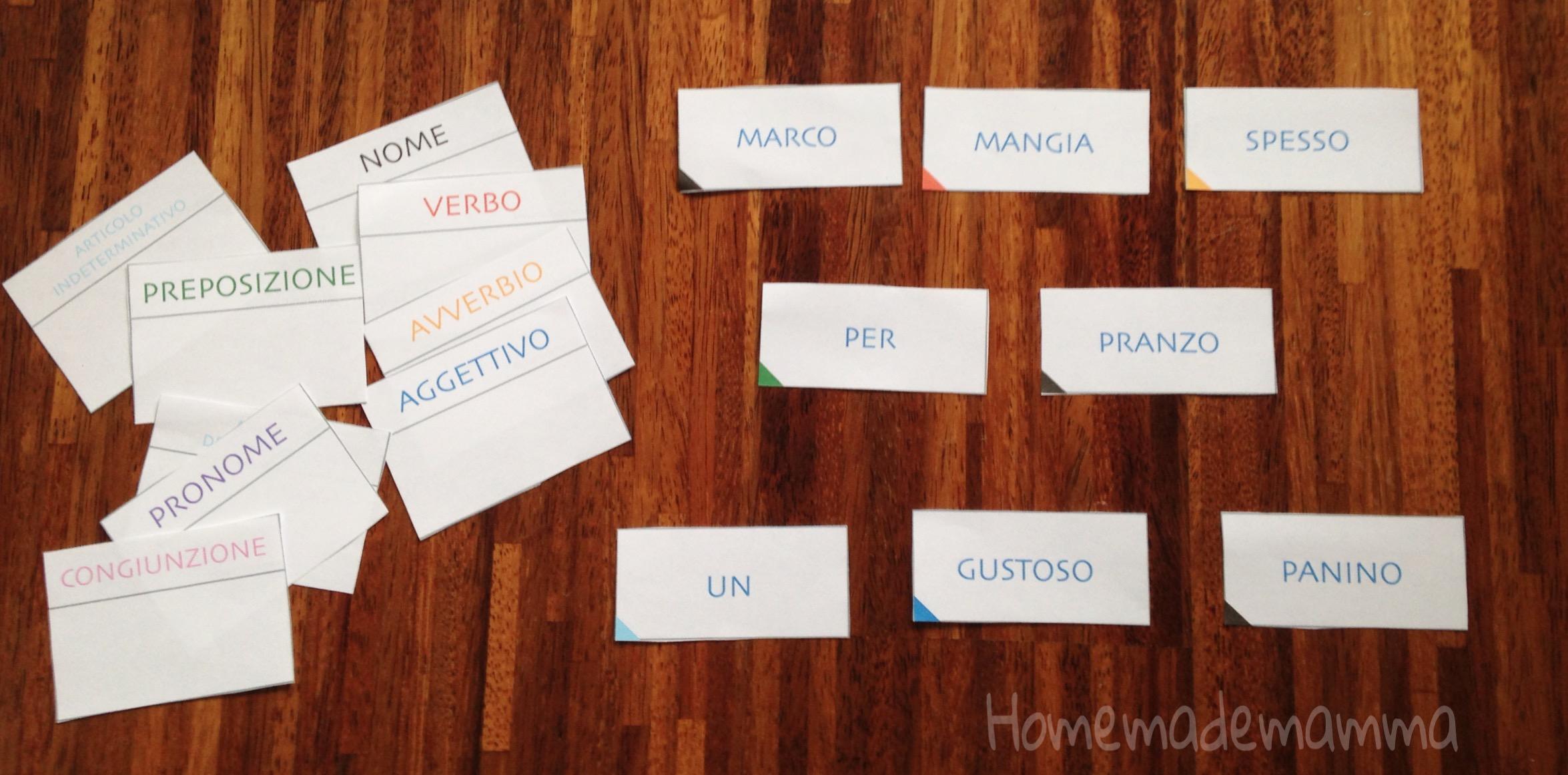 carte per studiare la grammatica