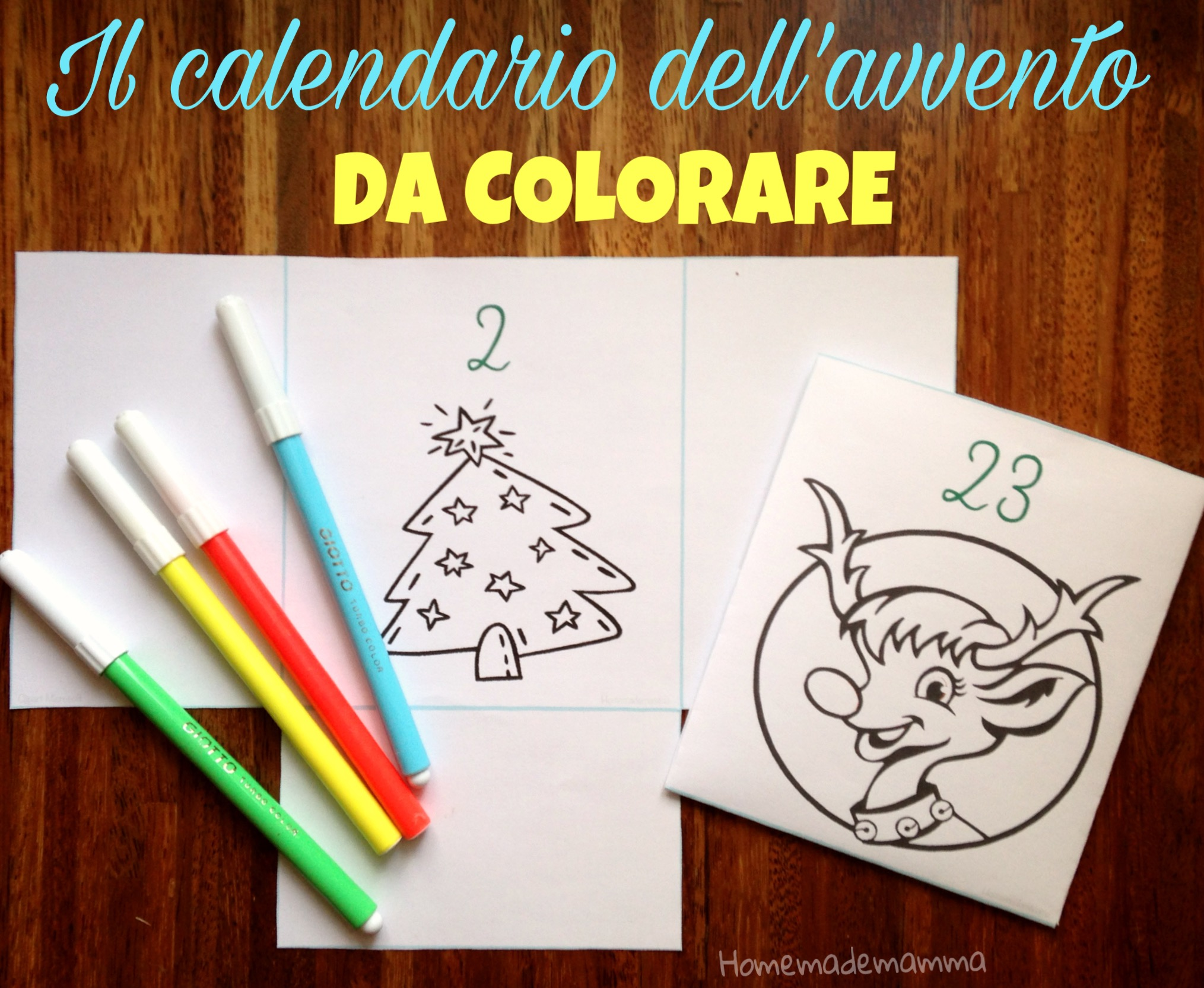 calendario avvento da colorare homemademamma