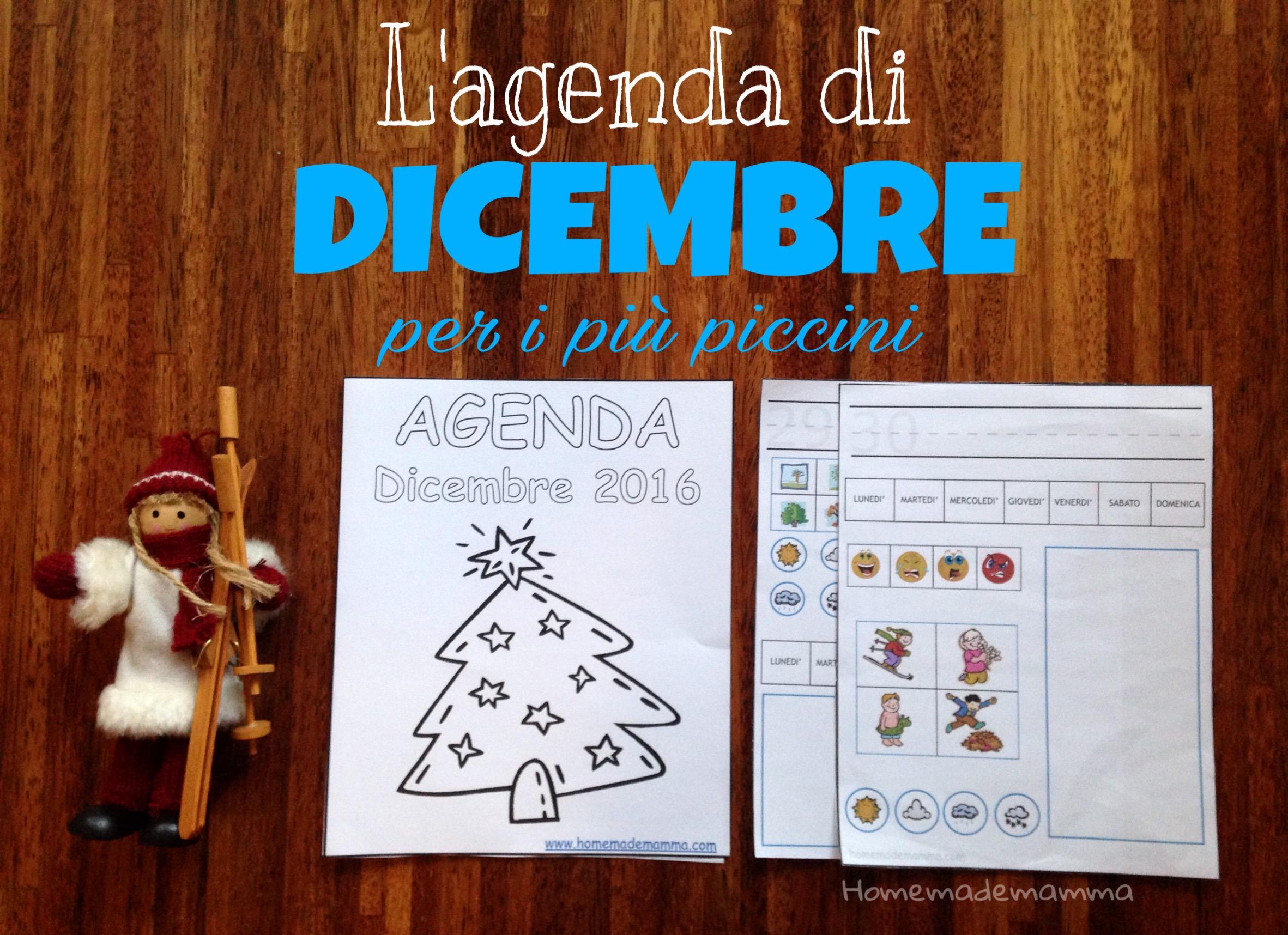 agenda dicembre bambini stampare gratis Homamdemamma