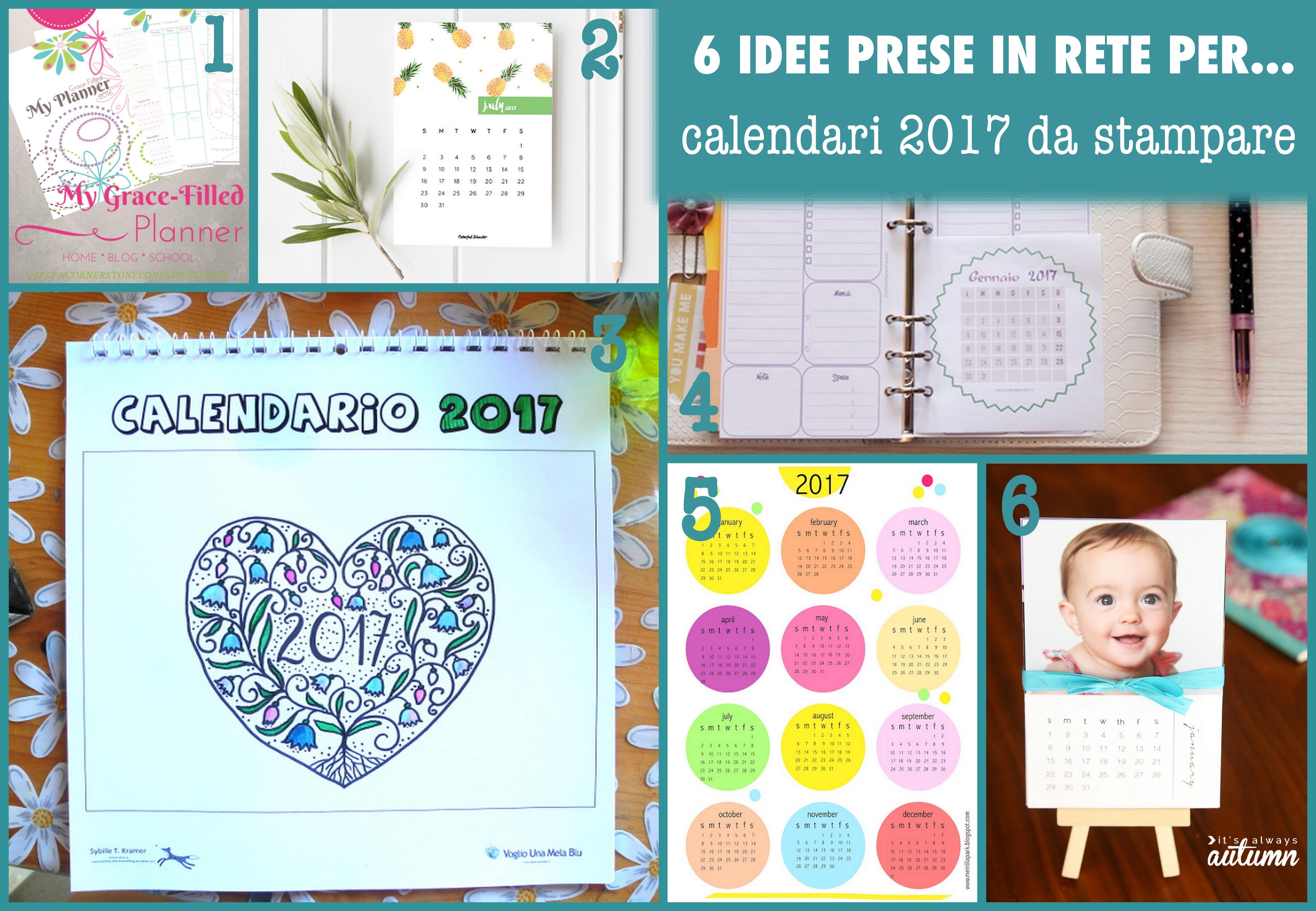 idee calendari da stapmare 2017