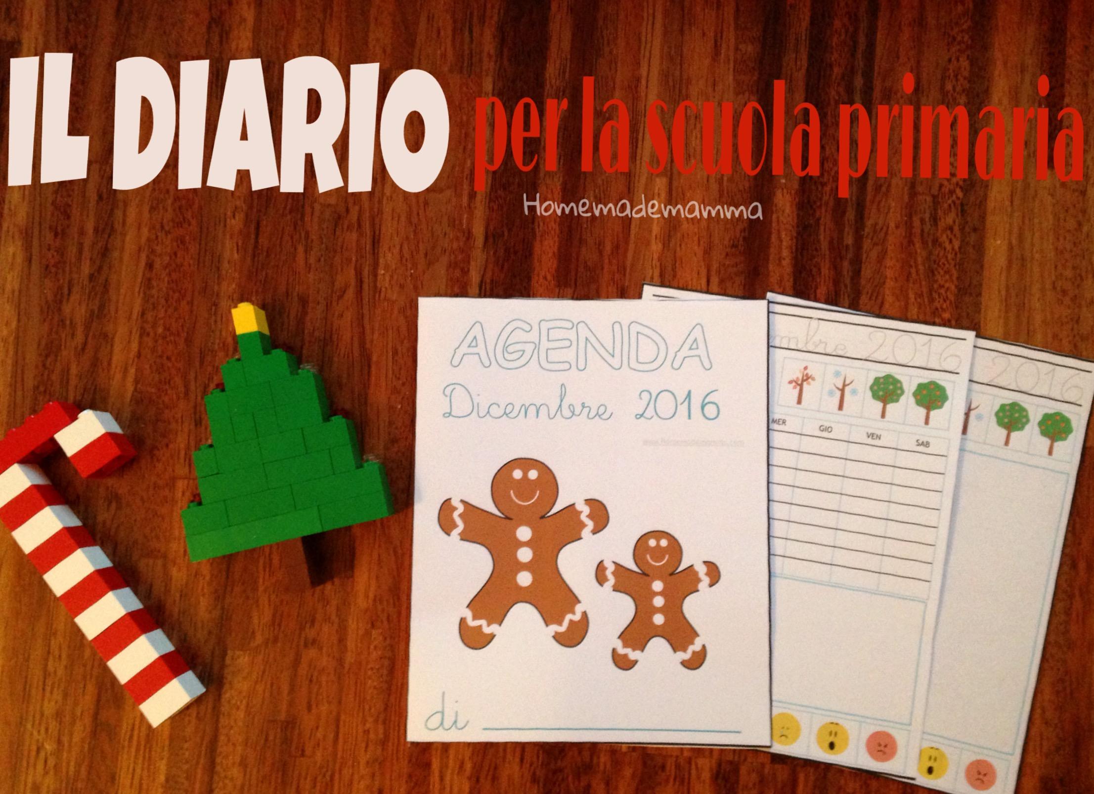 diario bambini dicembre stampare homemademamma