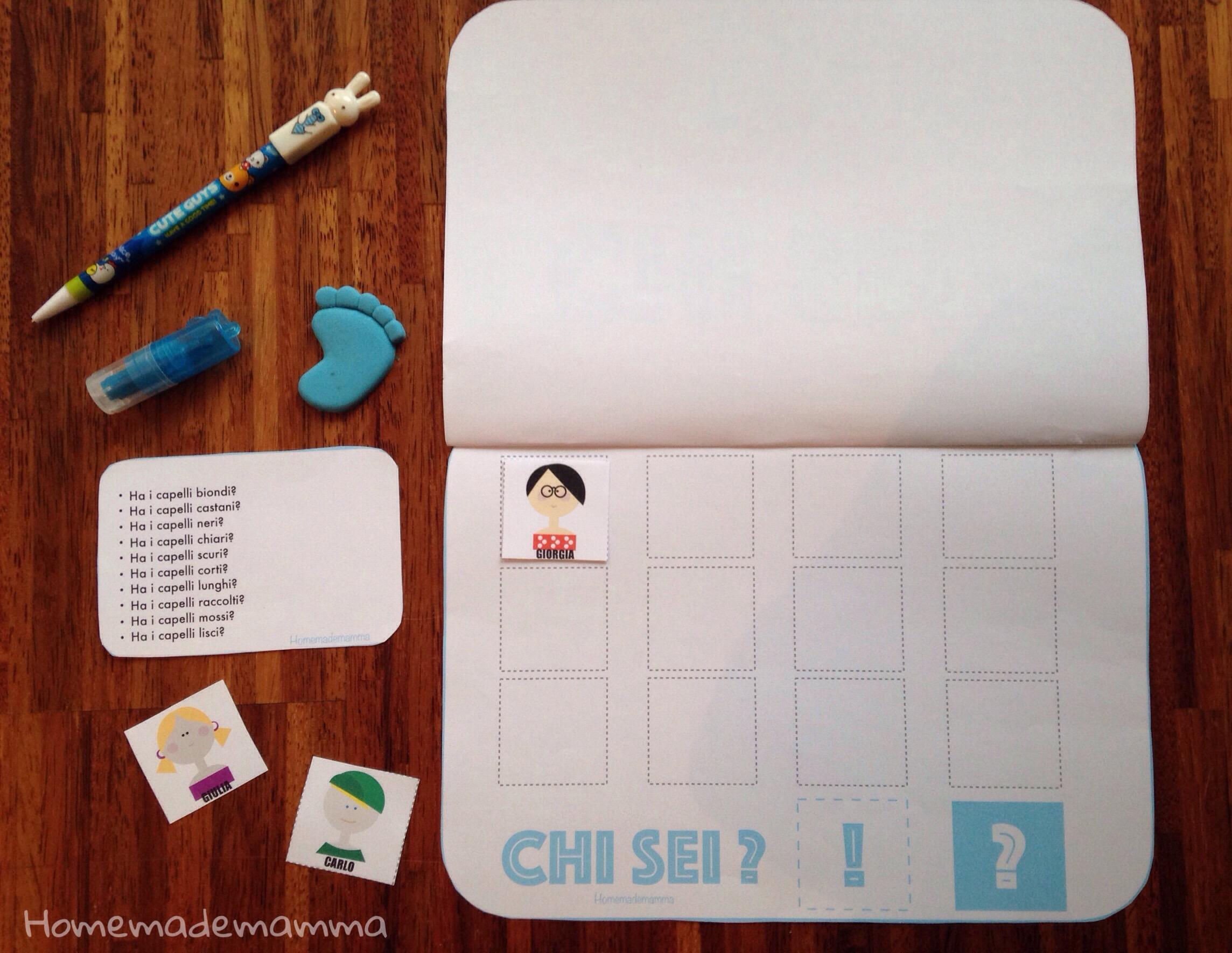 gioco chi sei stimolare concentrazione e logica bambini homemademamma