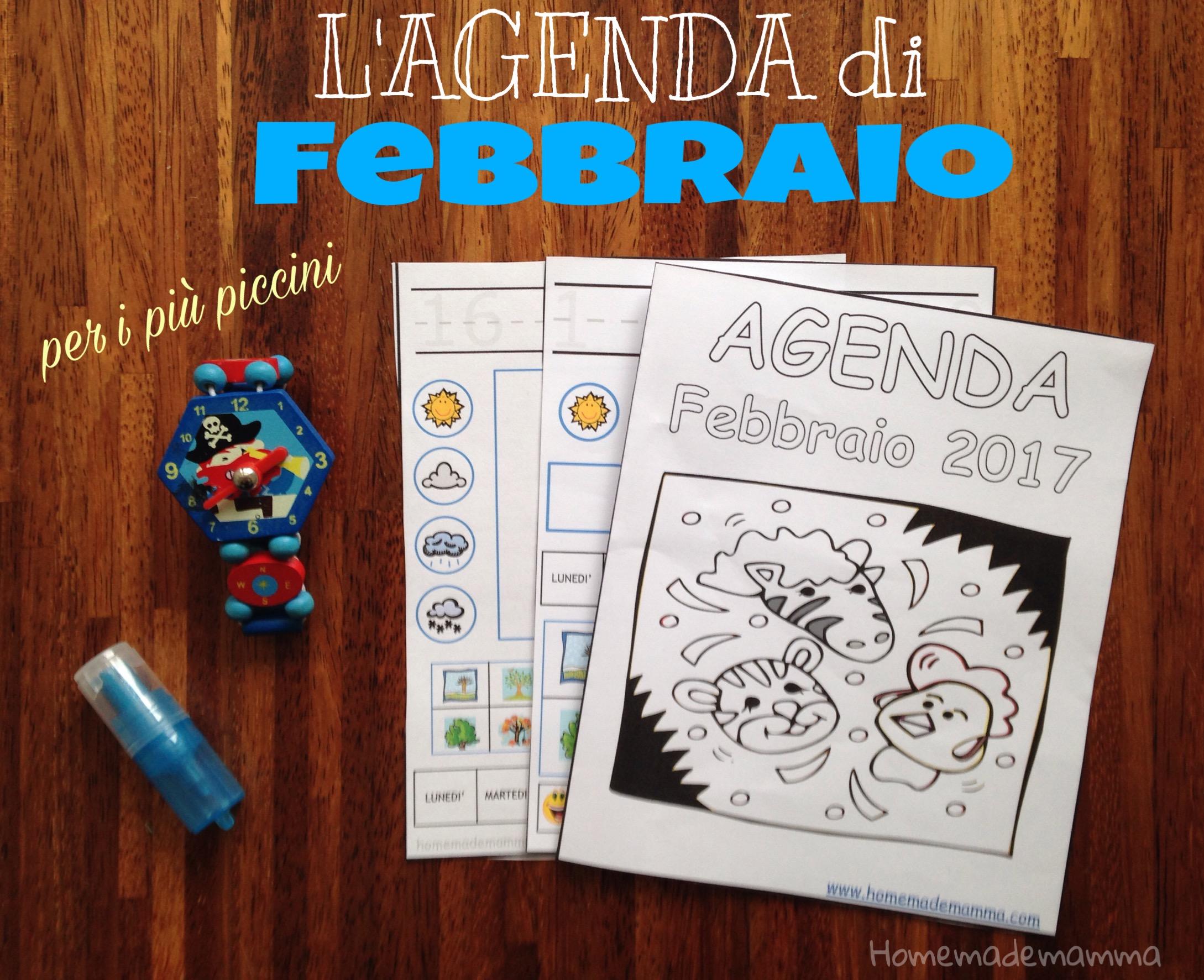 diario febbraio 2017 bambini stampare homemademamma