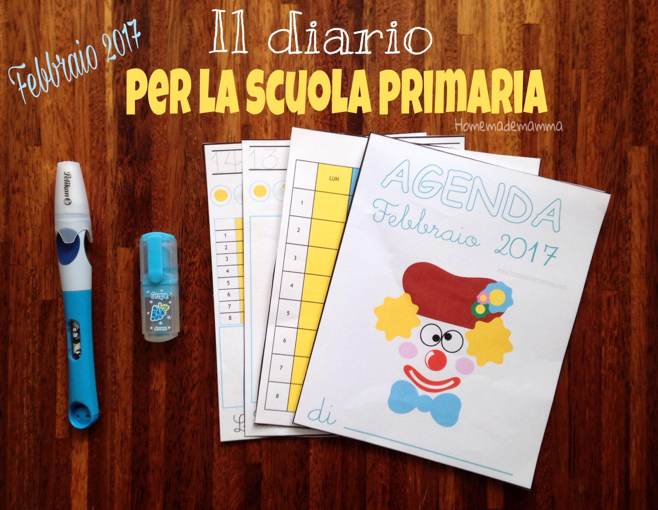 diario scuola primaria febbraio 2017 stampare homemademamma