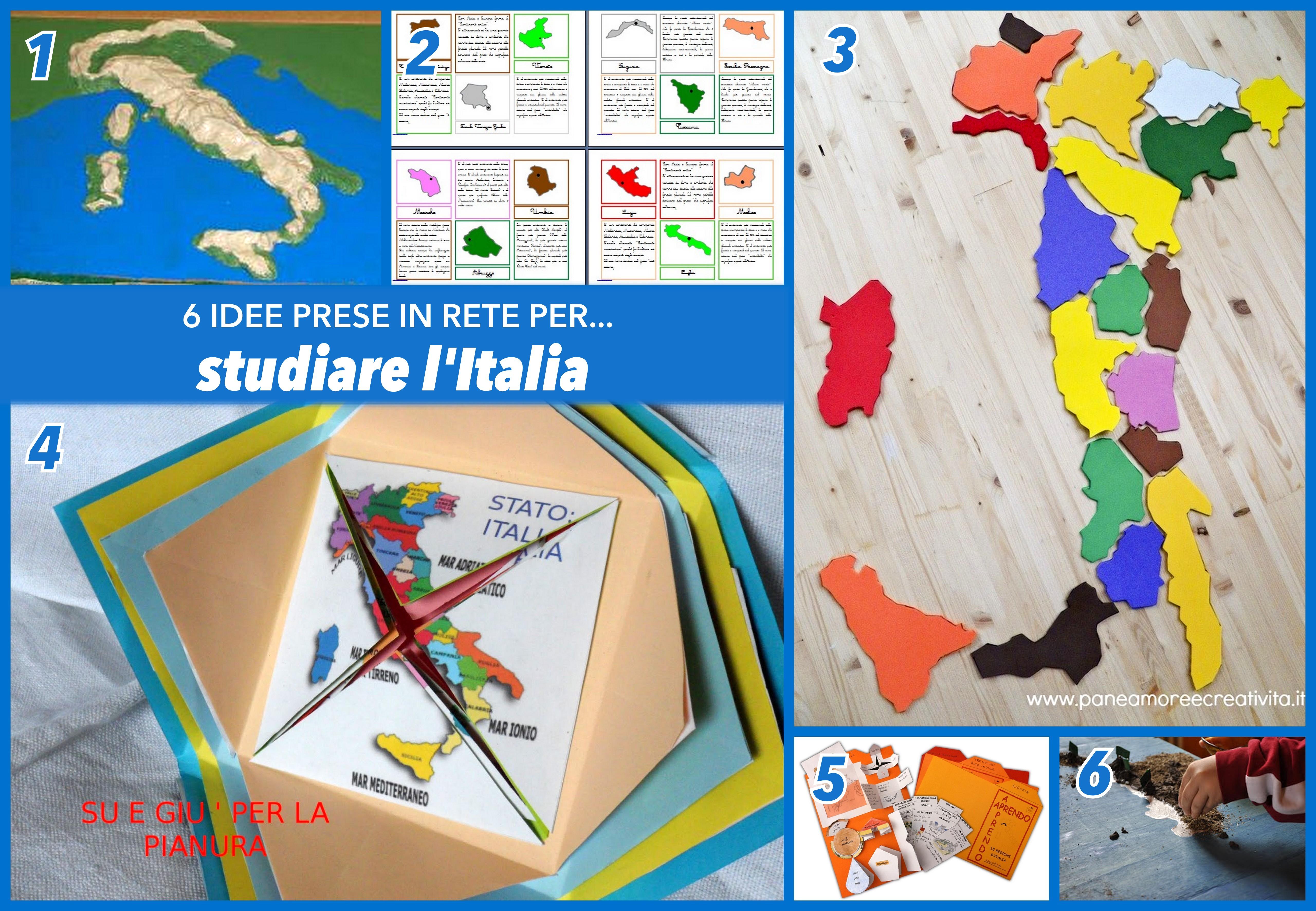 idee per studiare l'italia fisica e politica