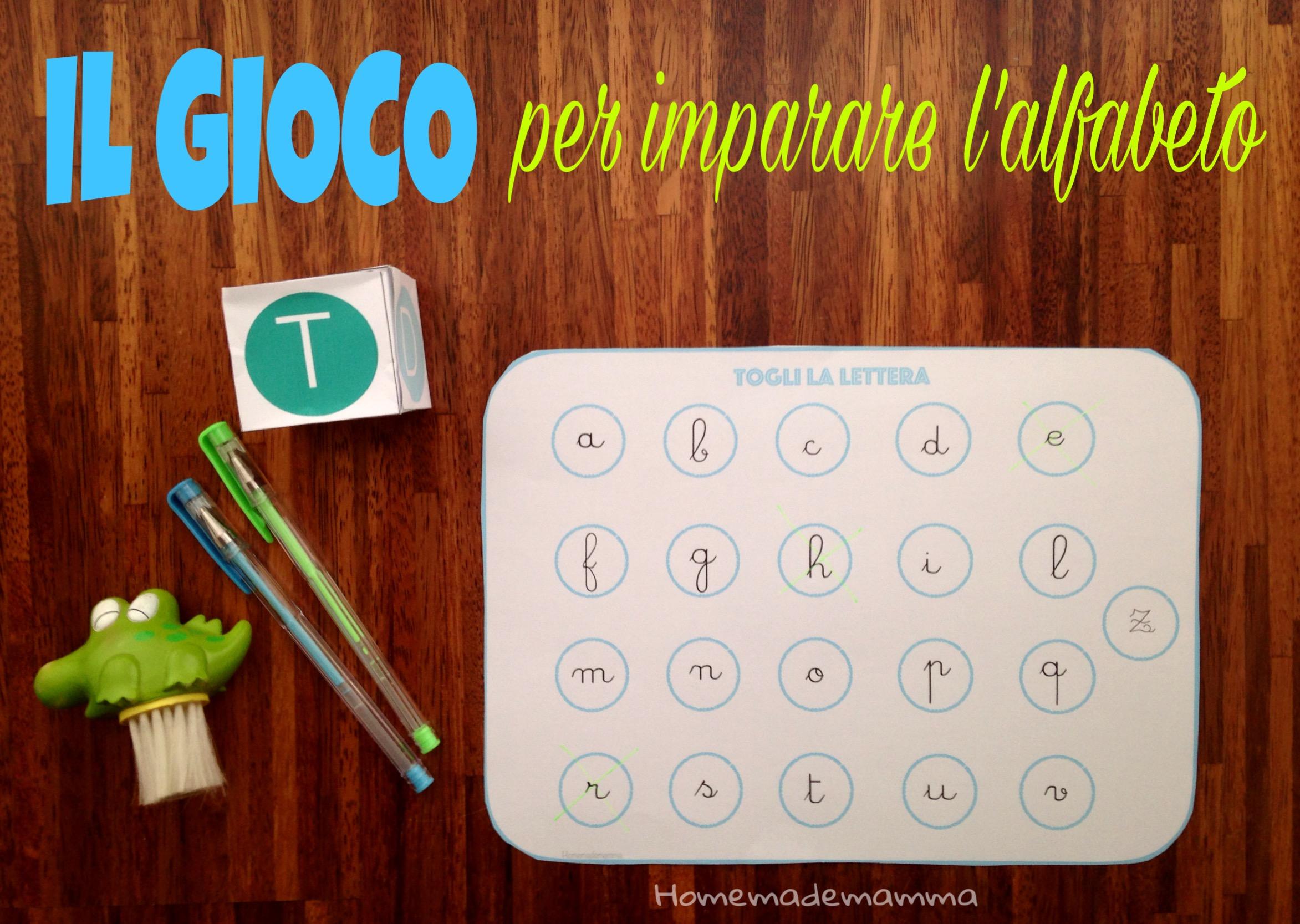 gioco per imparare alfabeto stampatello e corsivo