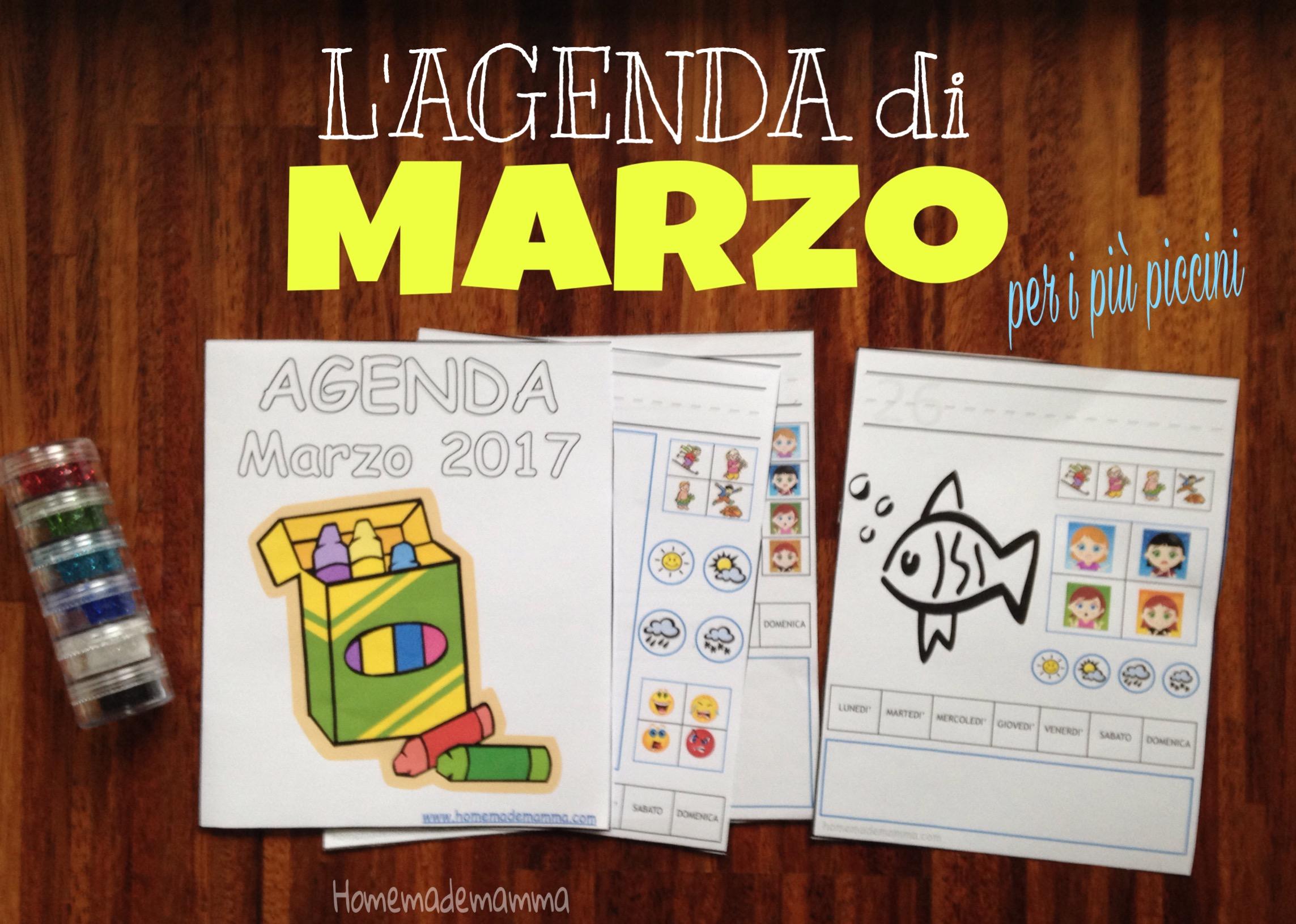 agenda bambini marzo 2017 da stampare
