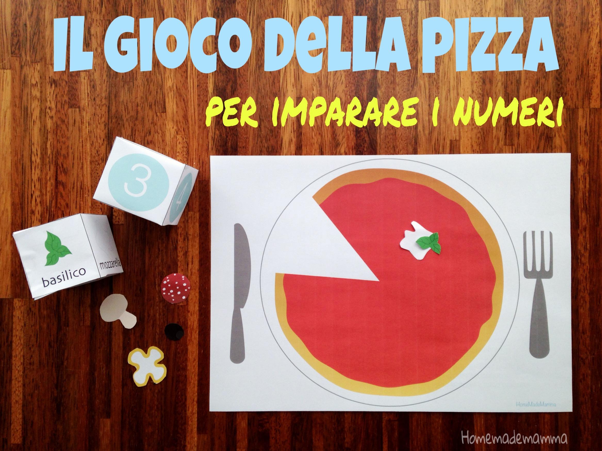 gioco pizza per imparare numeri