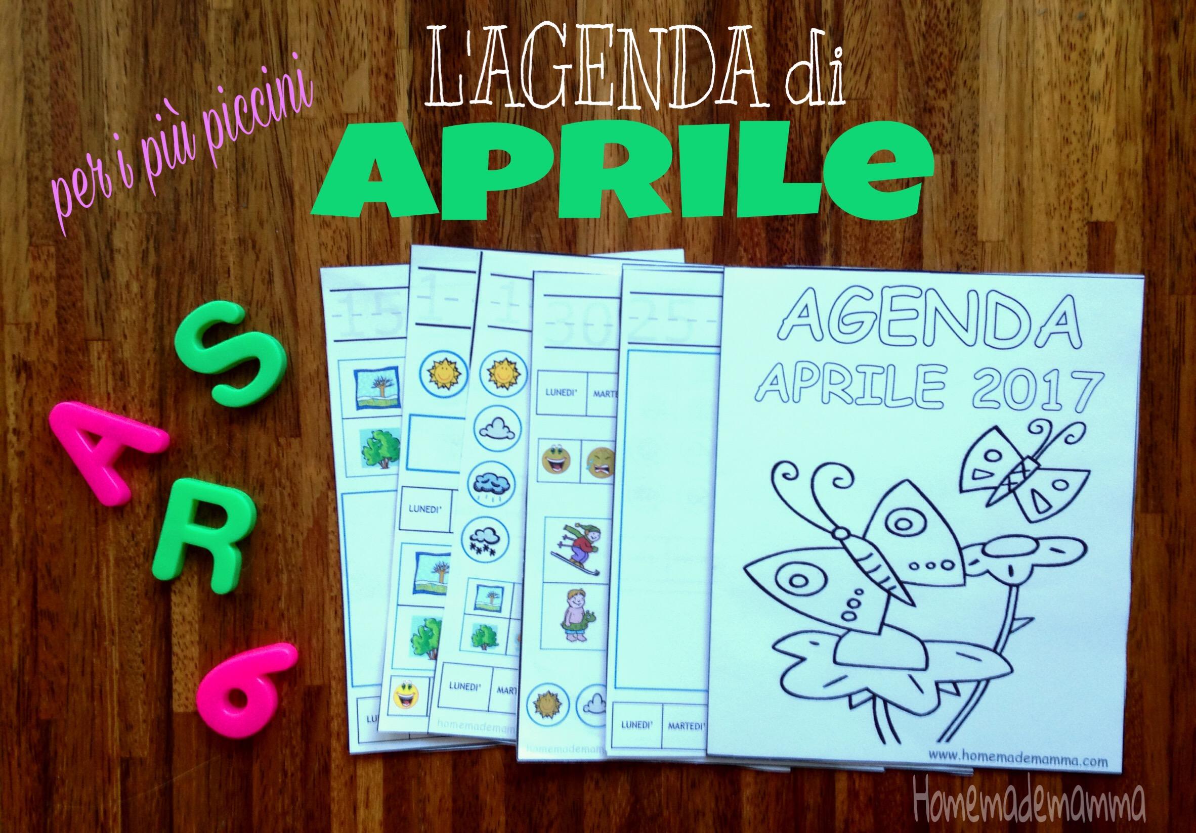 agenda bambini aprile 2017 stampare