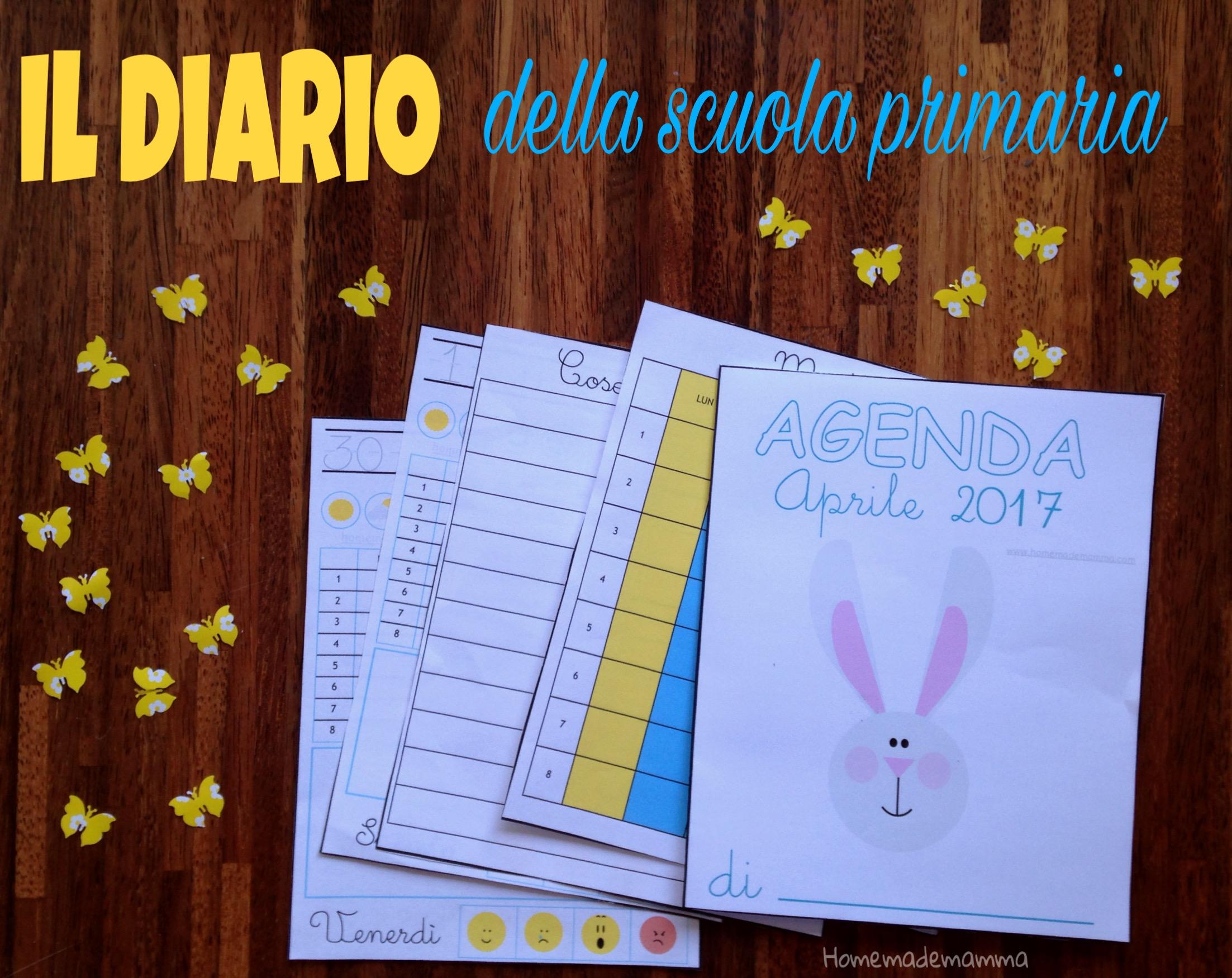 diario scuola primaria aprile da stampare