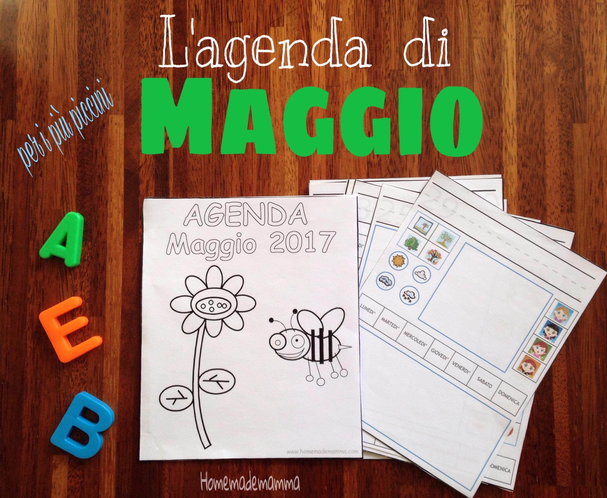 agenda maggio 2017 bambini