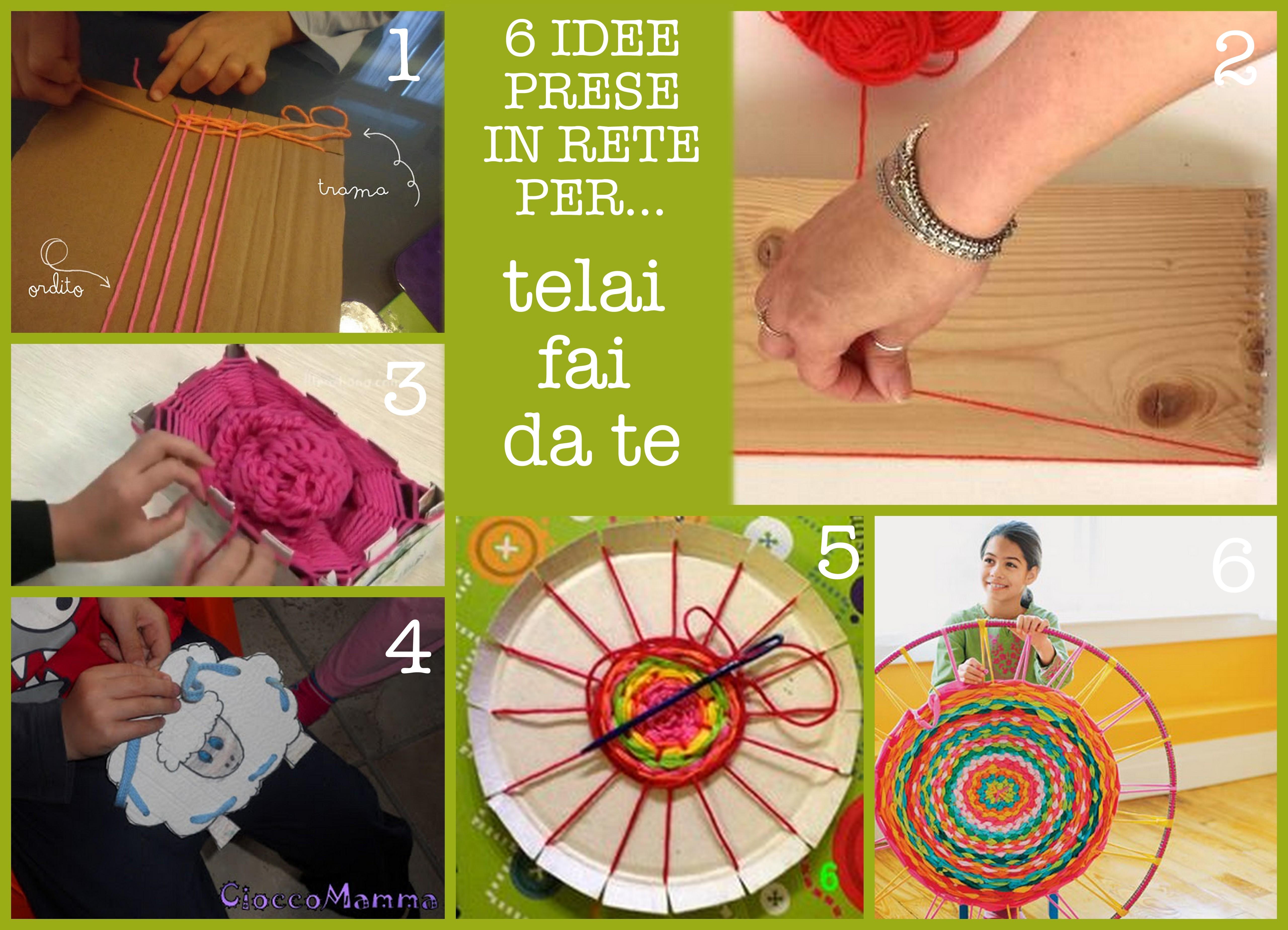 idee per creare telai motricità fine bambini