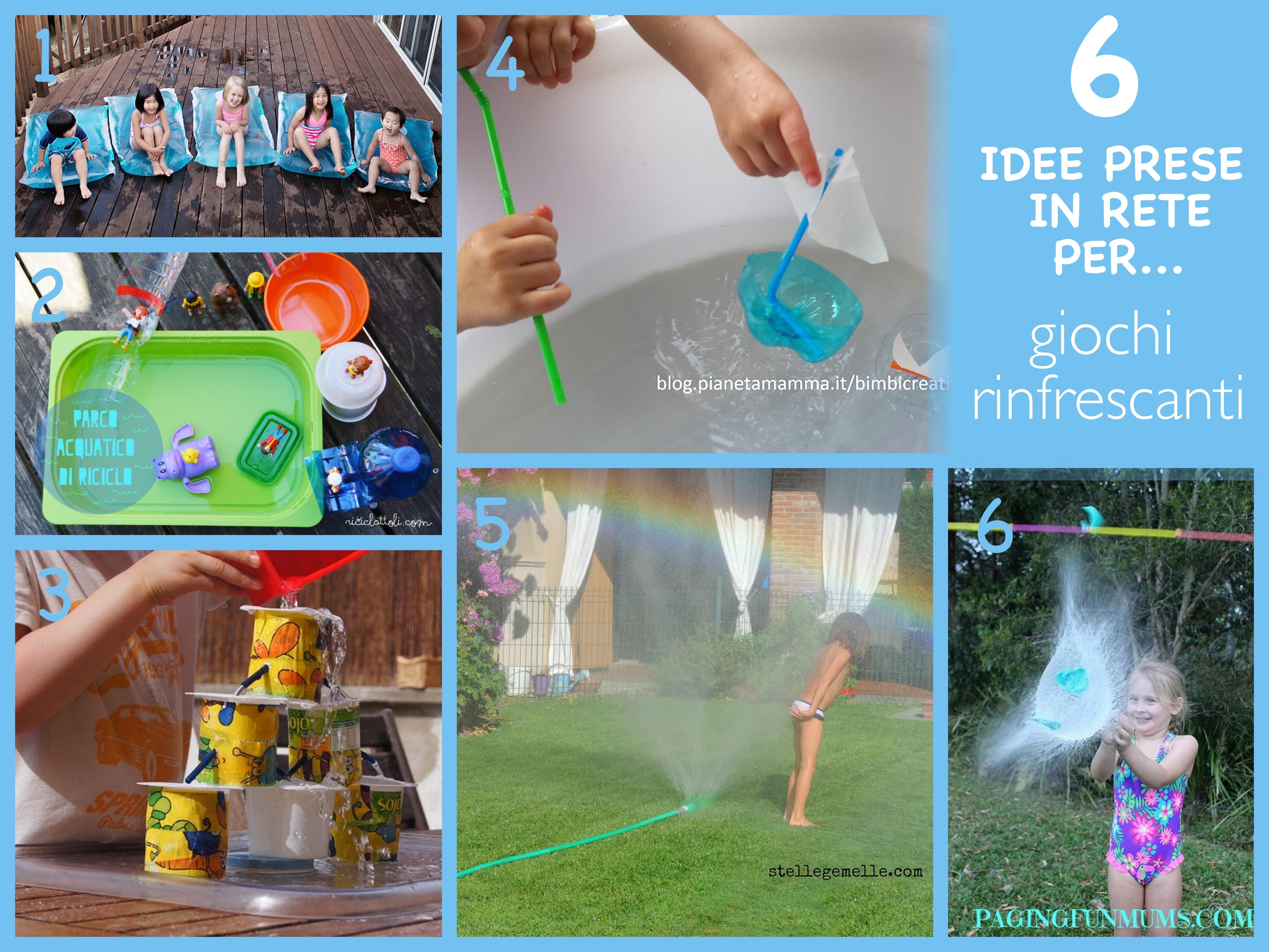 6 idee prese in rete per giochi estate acqua
