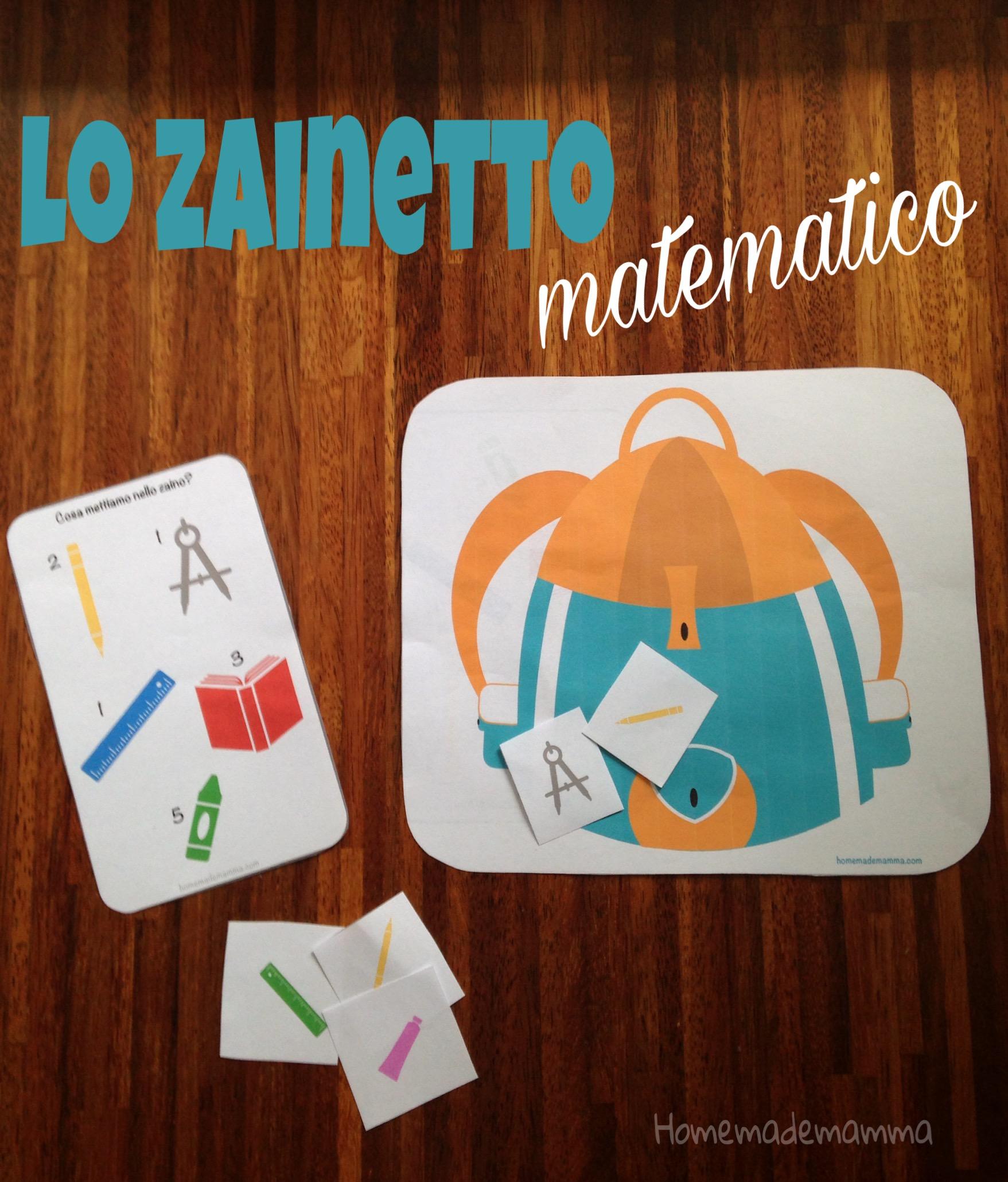 schede gioco matematica prima elementare scuola materna