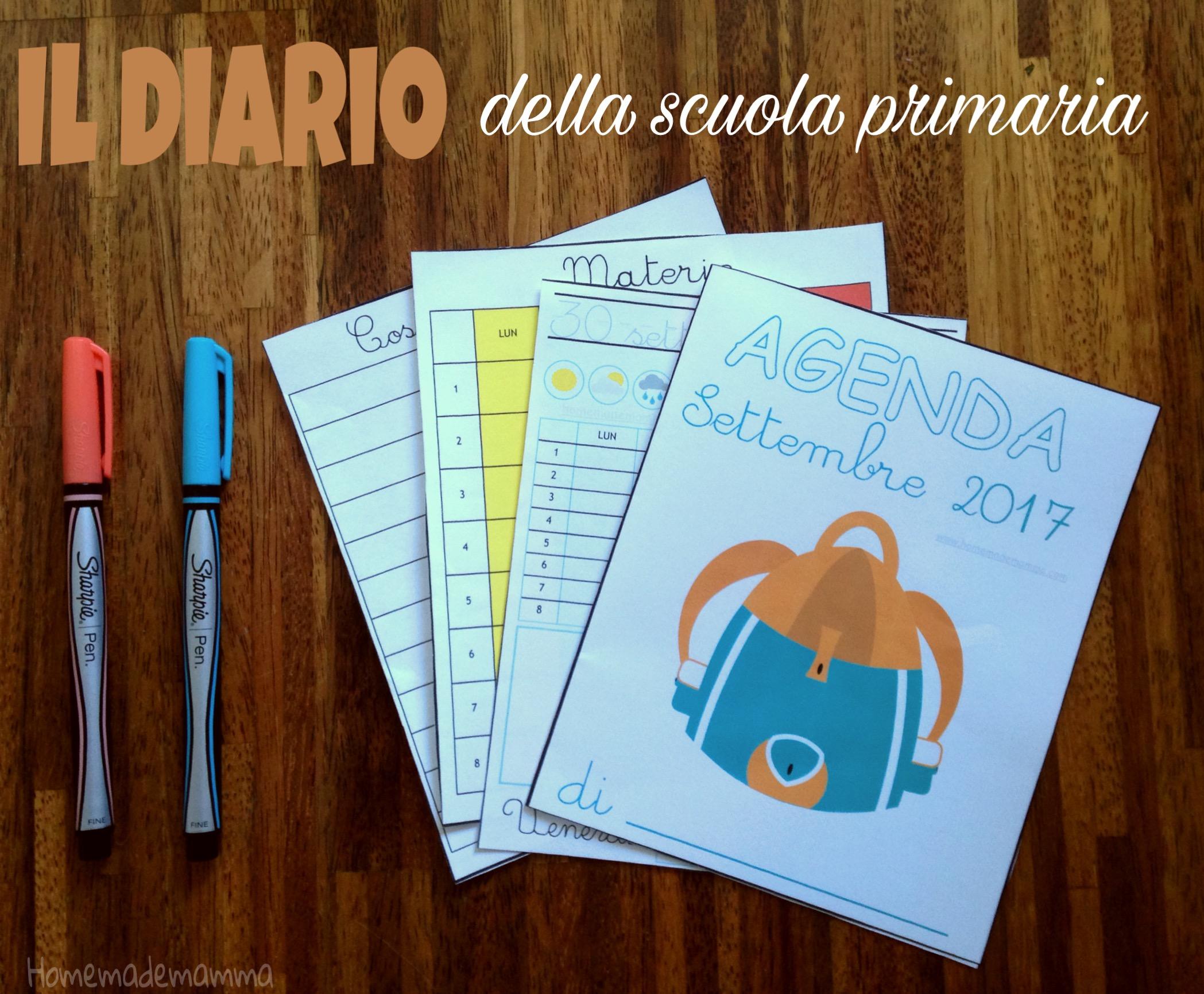 diario settembre 2017 scuola primaria stampare
