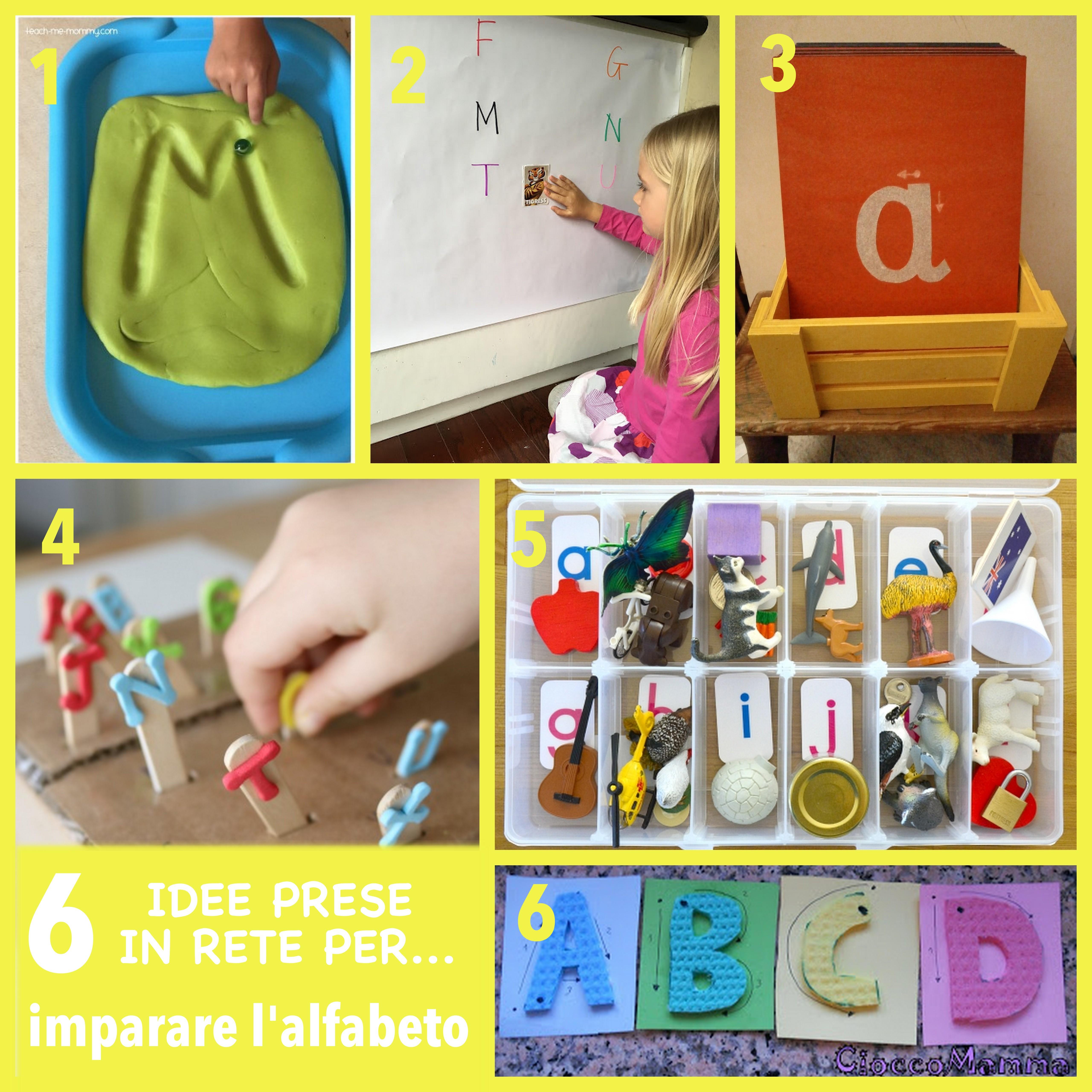 idee per imparare l'alfabeto stile montessori