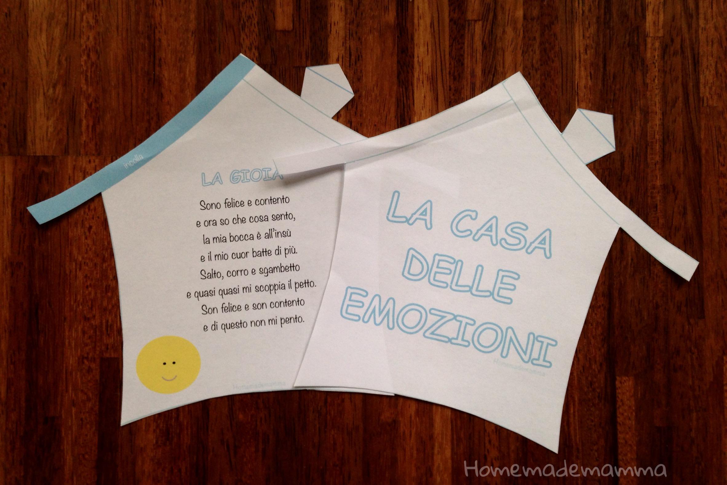 libro per bambini da stampare sulle emozioni