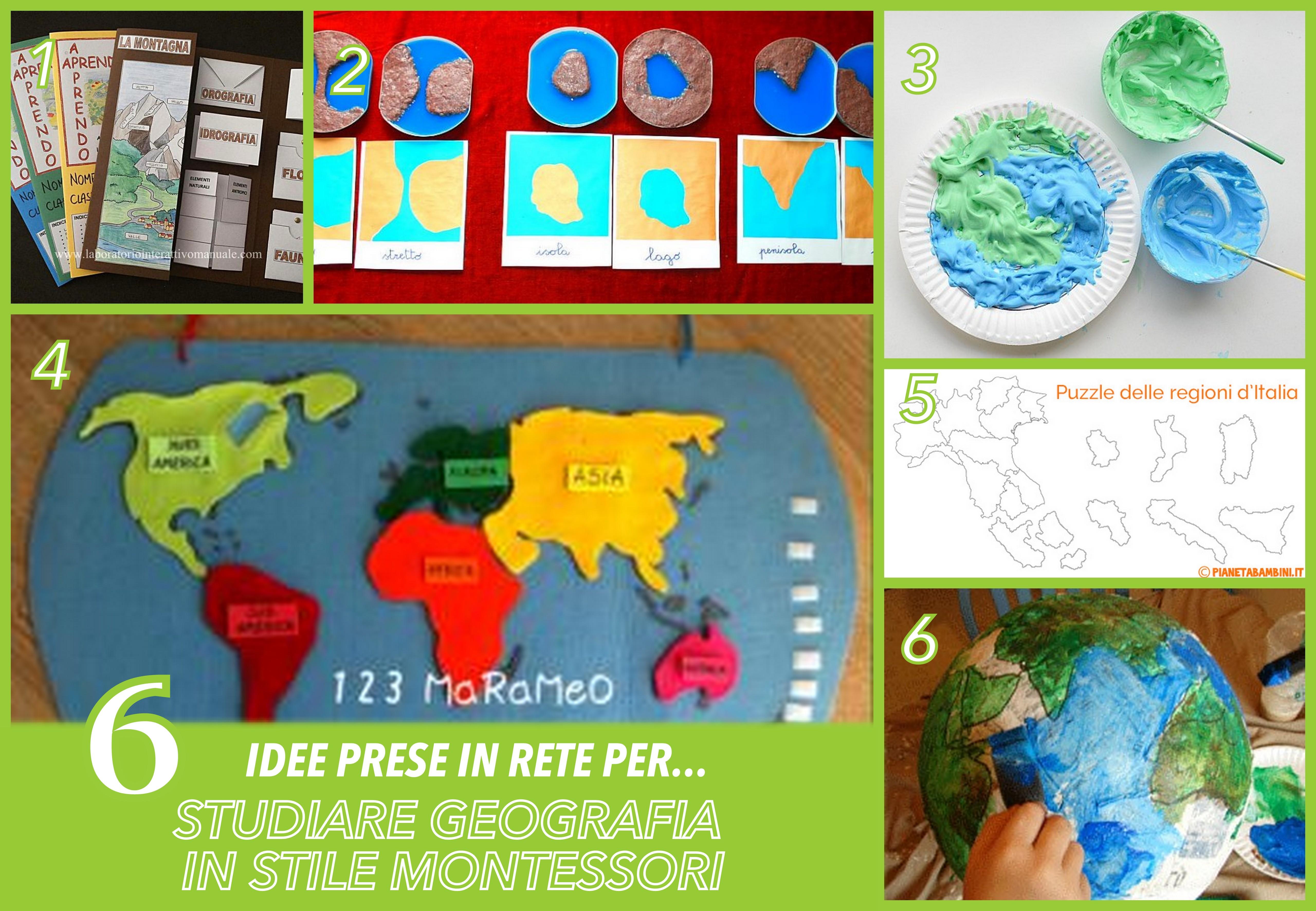 6 idee geografia montessori materiale gratis