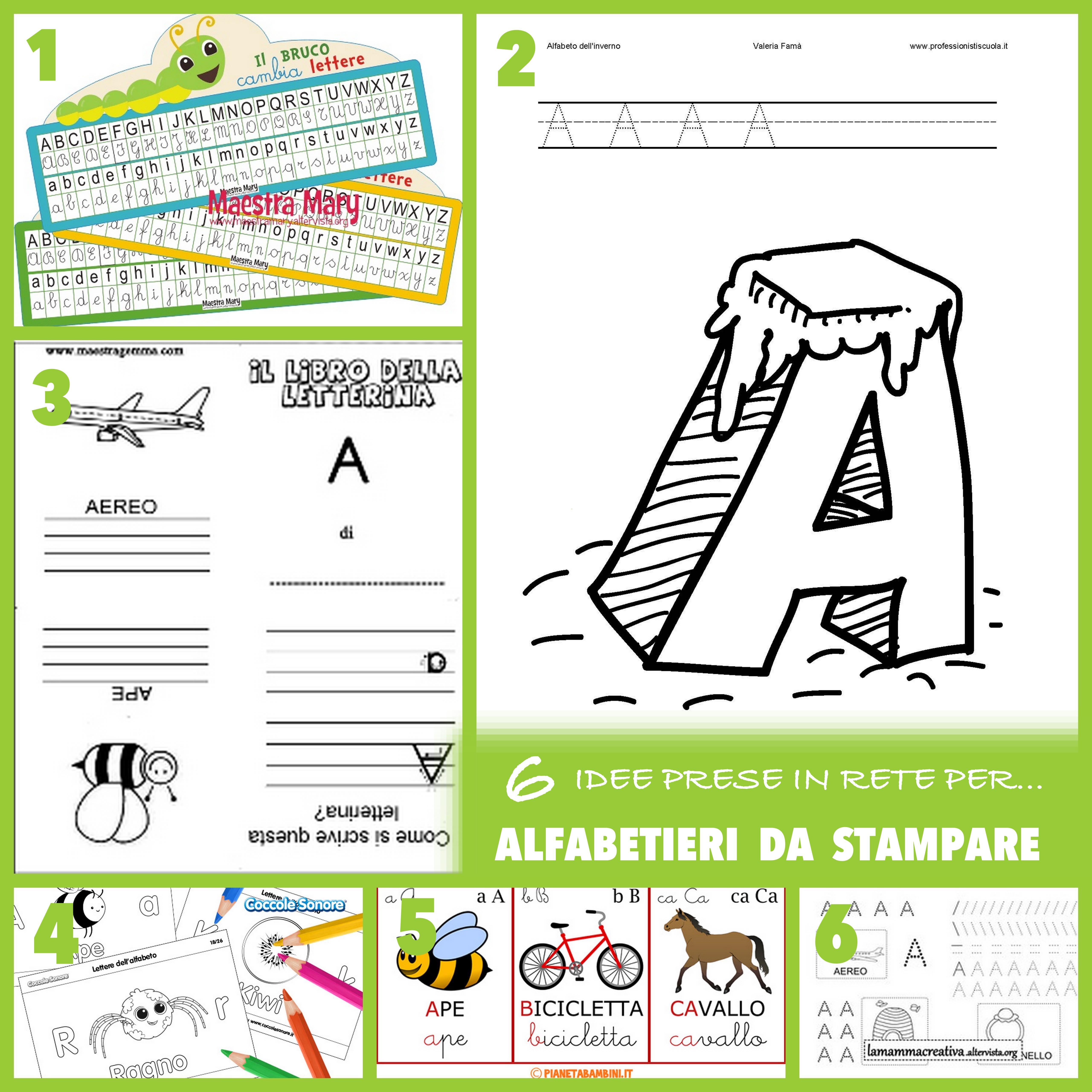 Lettere Alfabeto Da Copiare 6 idee prese in rete per… alfabetieri da stampare