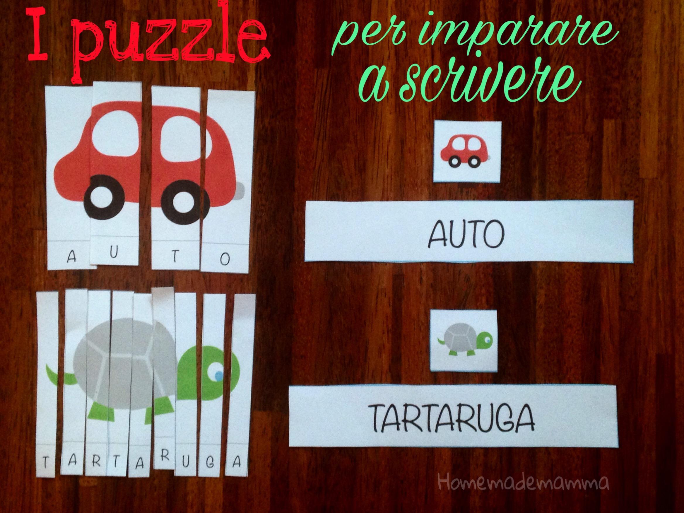 puzzle parole da stampare