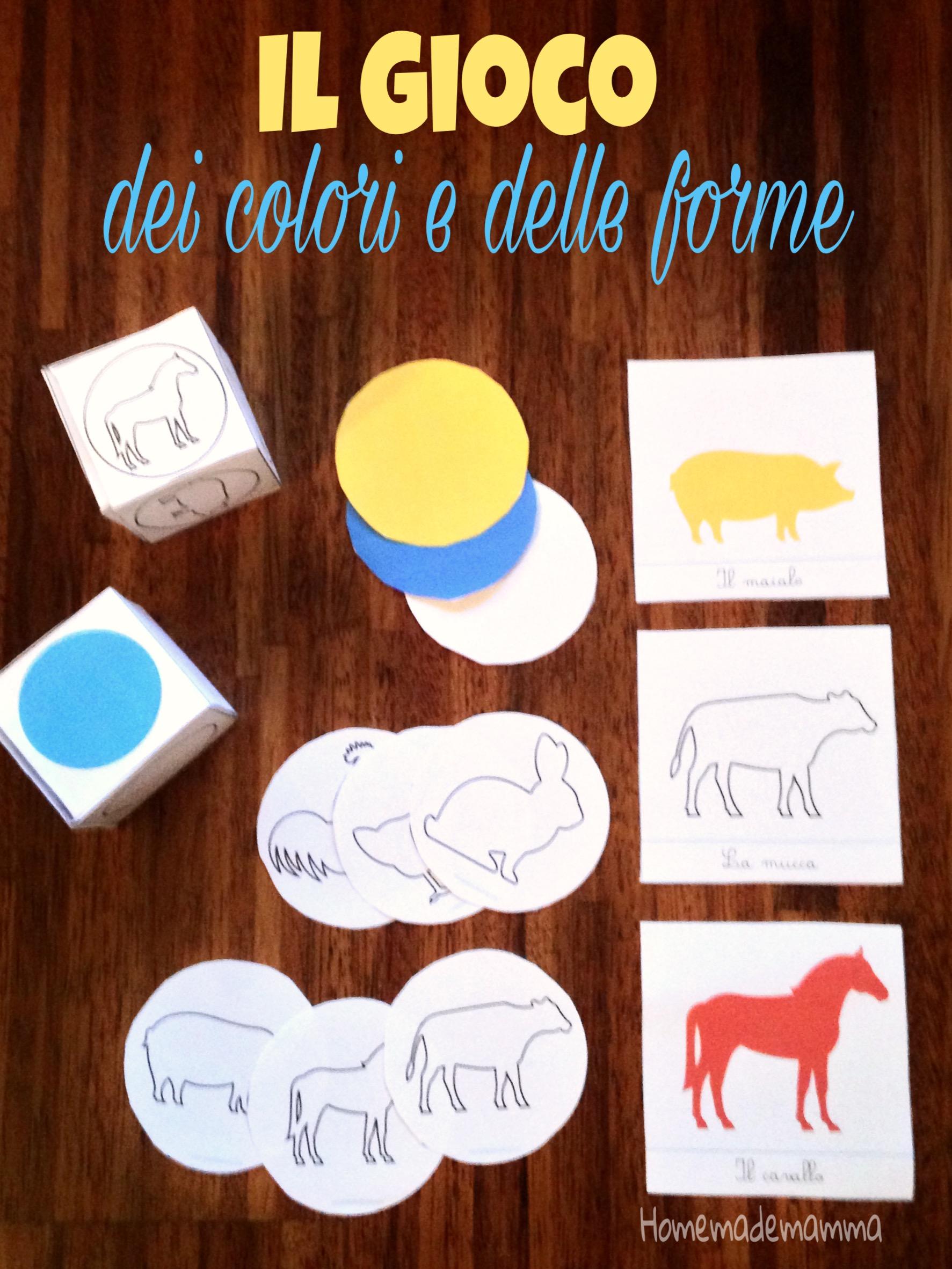 forme e colori montessori da stampare