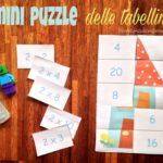 I mini puzzle delle tabelline