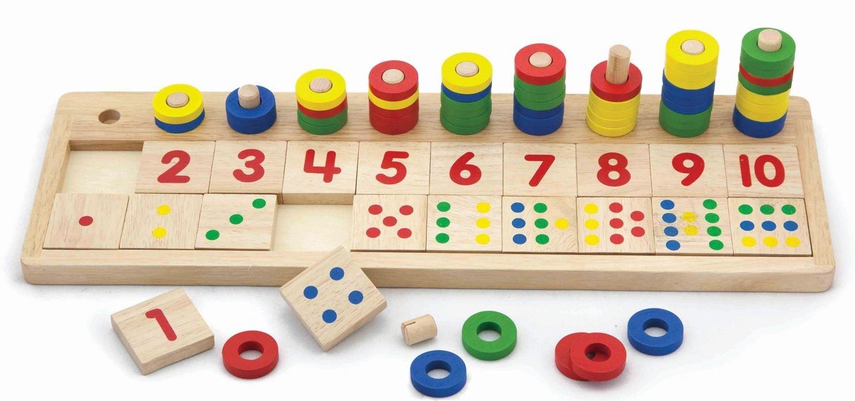 giochi legno per numeri e quantità