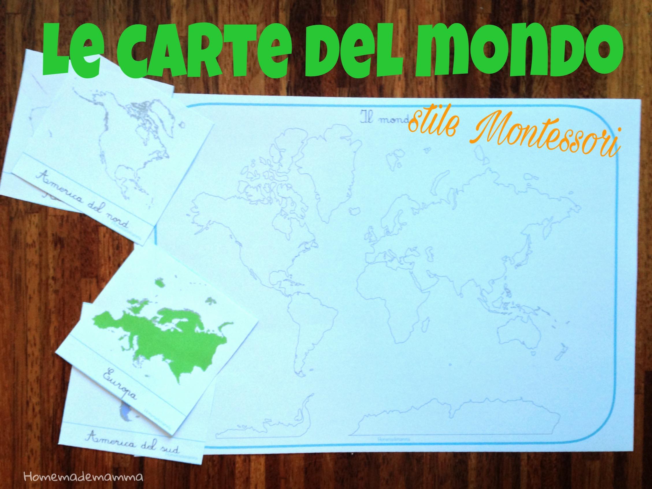 carte geografia montessori da stampare