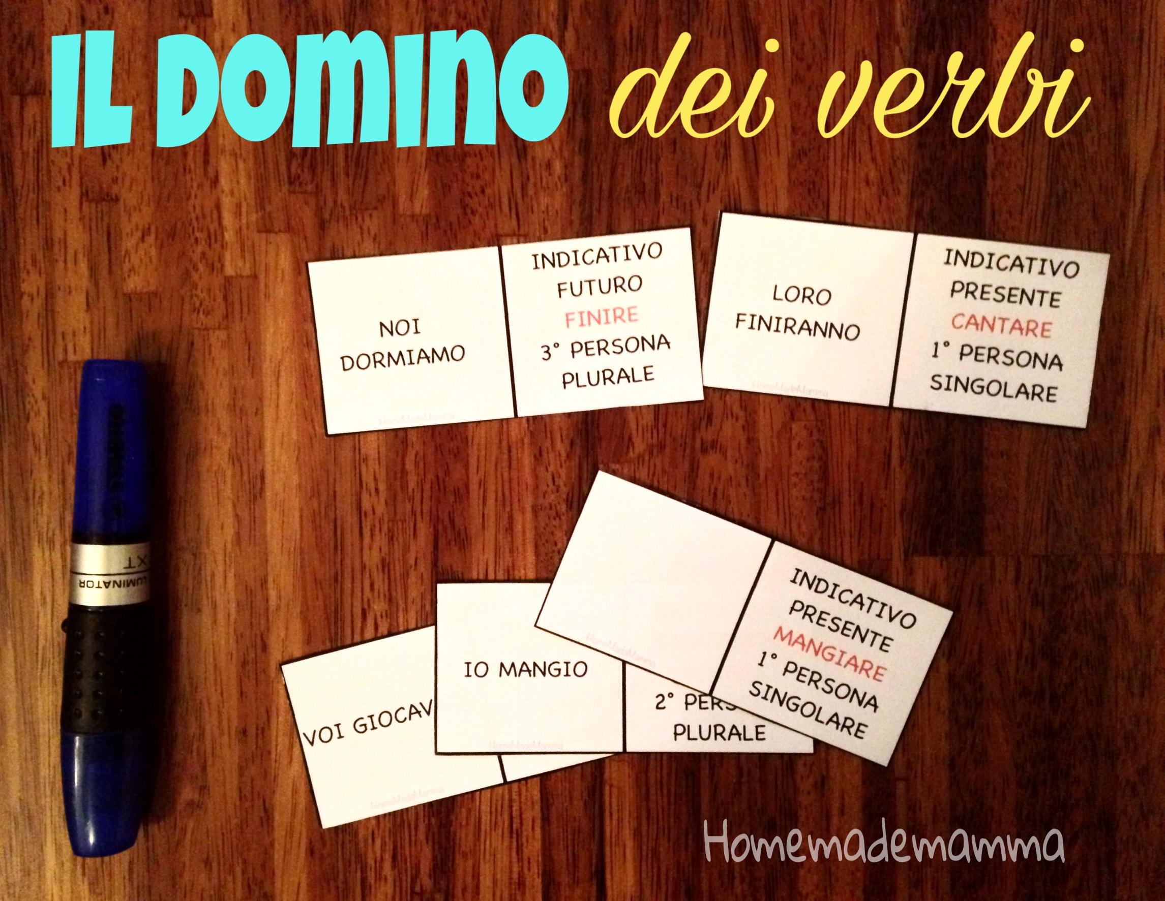il domino dei verbi