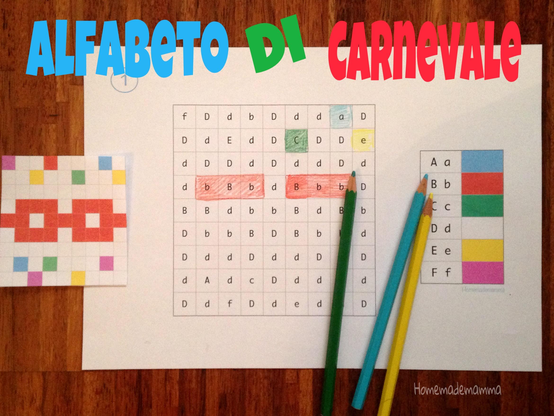 Carnevale imparare alfabeto