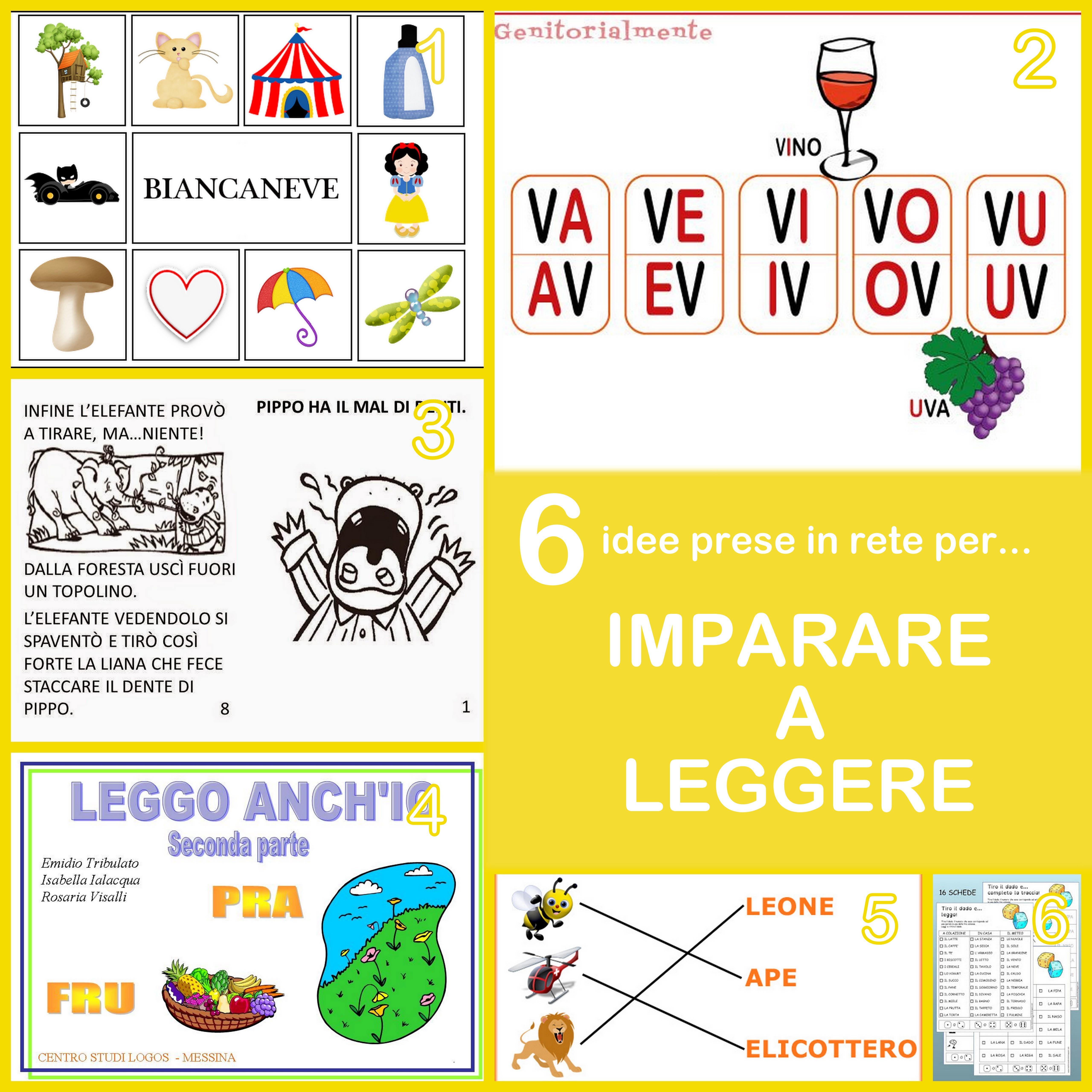idee per imparare a leggere