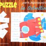 Il puzzle per ripassare le tabelline