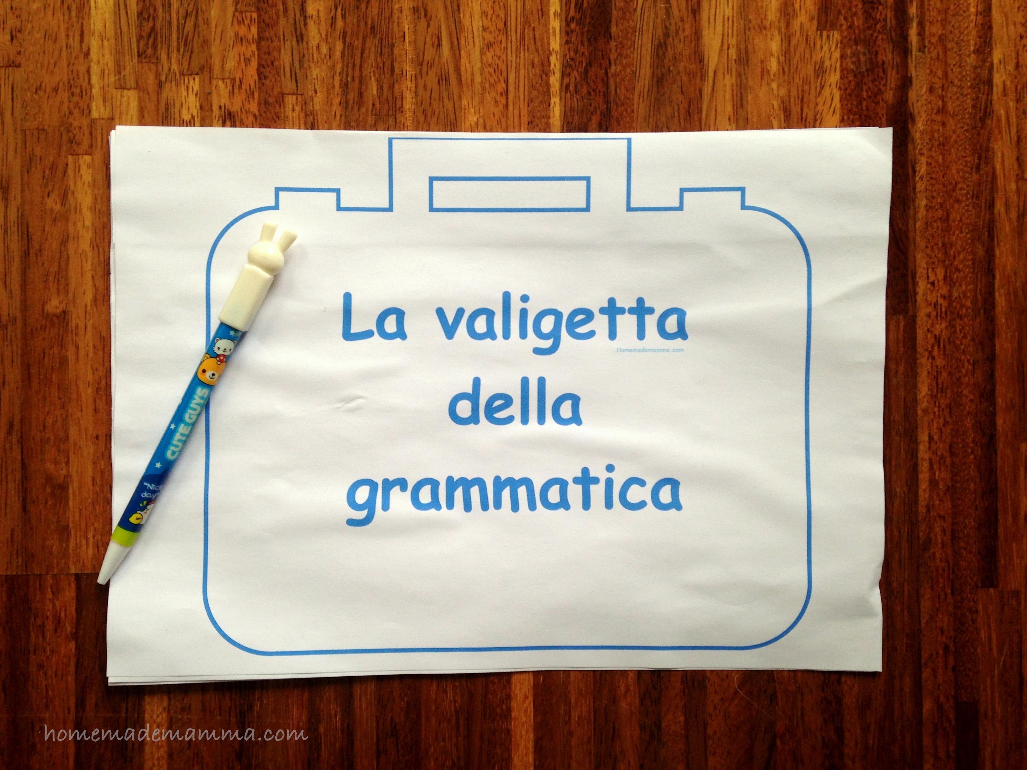 la valigetta delle regole grammatica