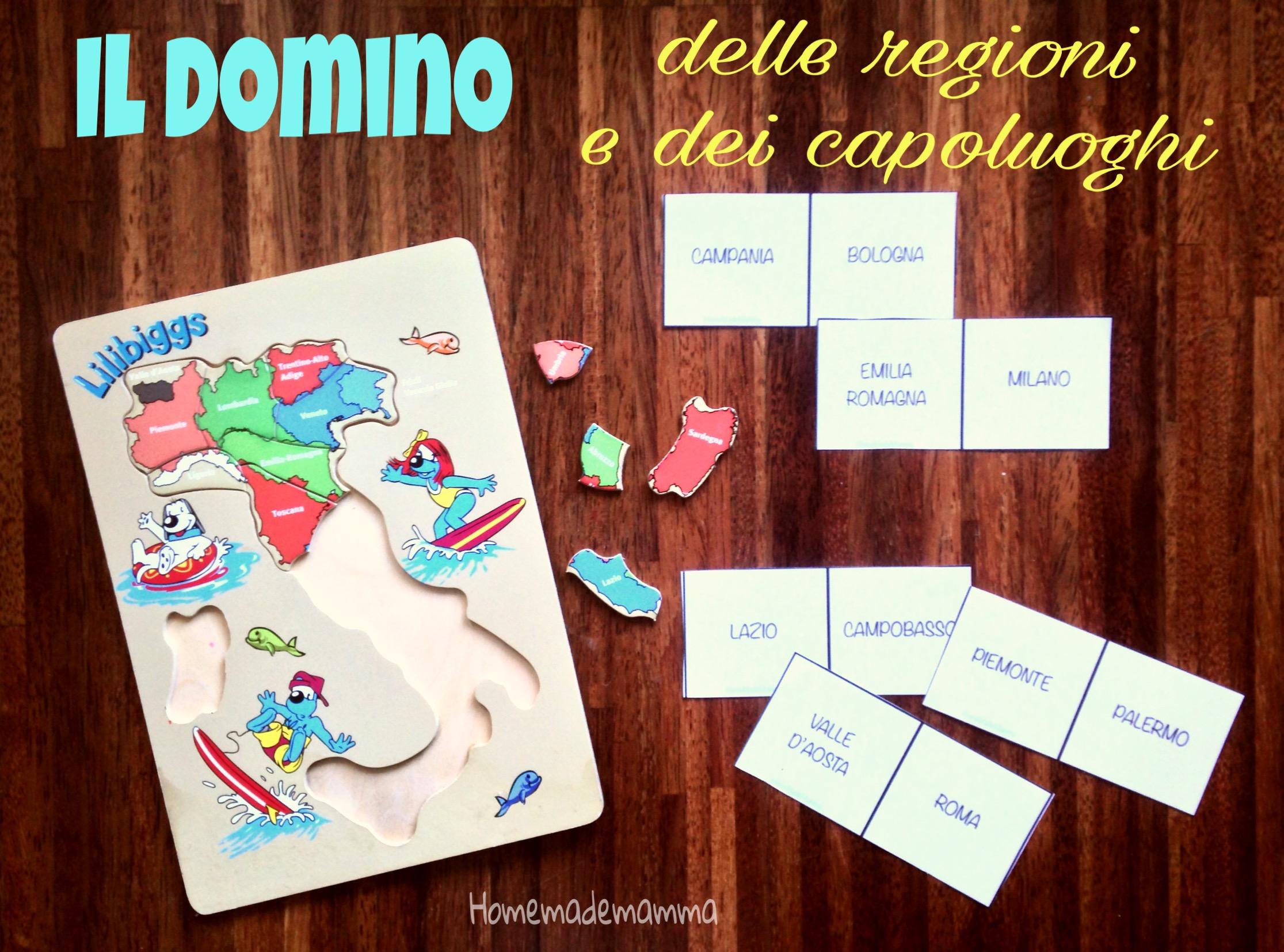 domino delle regioni e dei capoluoghi d'Italia