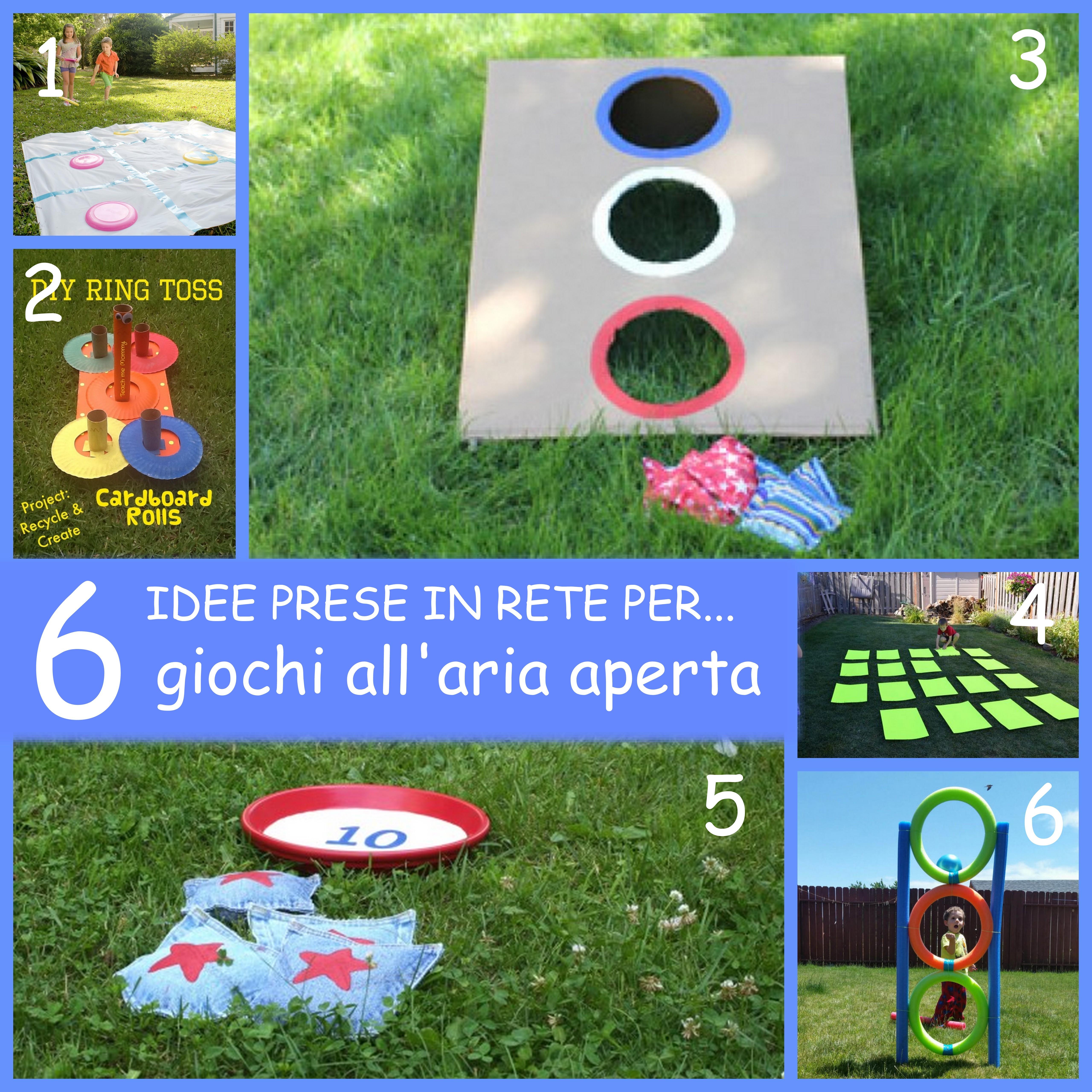 idee per giochi all'aria aperta