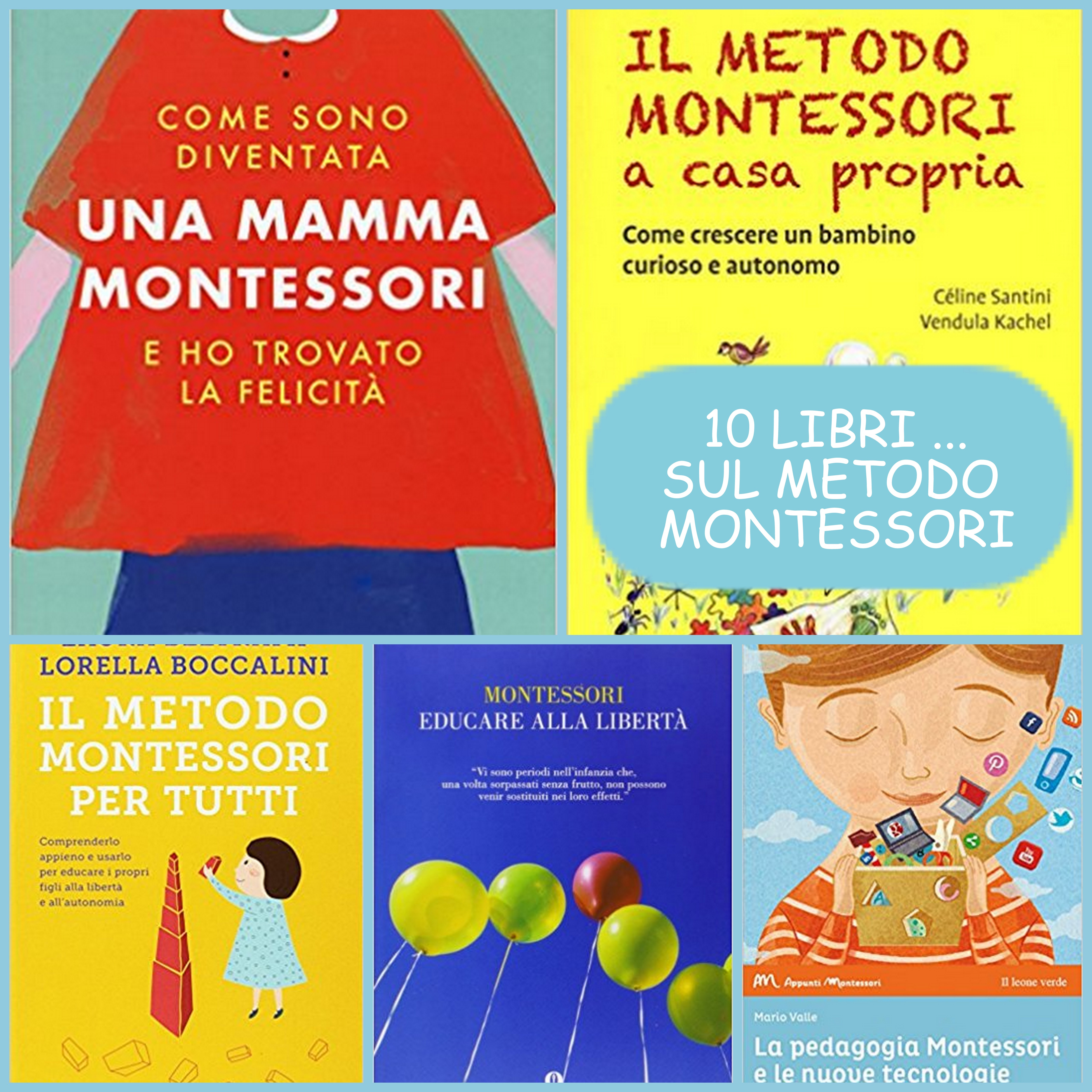 10 libri METODO MONTESSOR