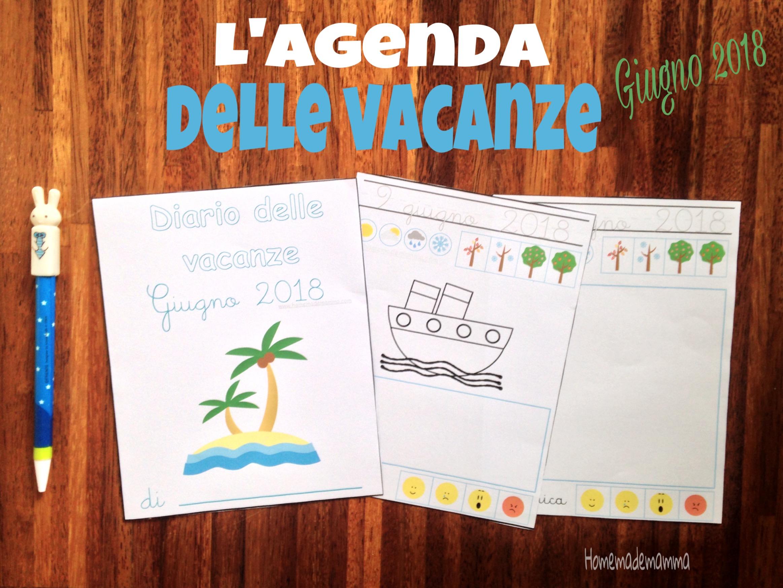 agenda mensile vacanze bambini stampare gratis