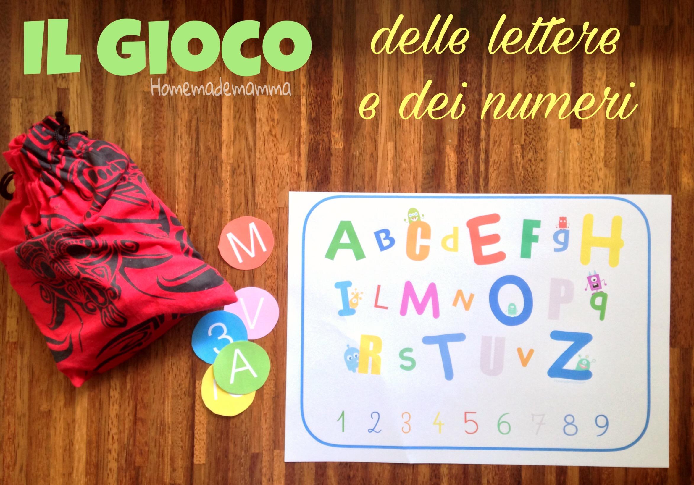il gioco delle lettere e dei numeri