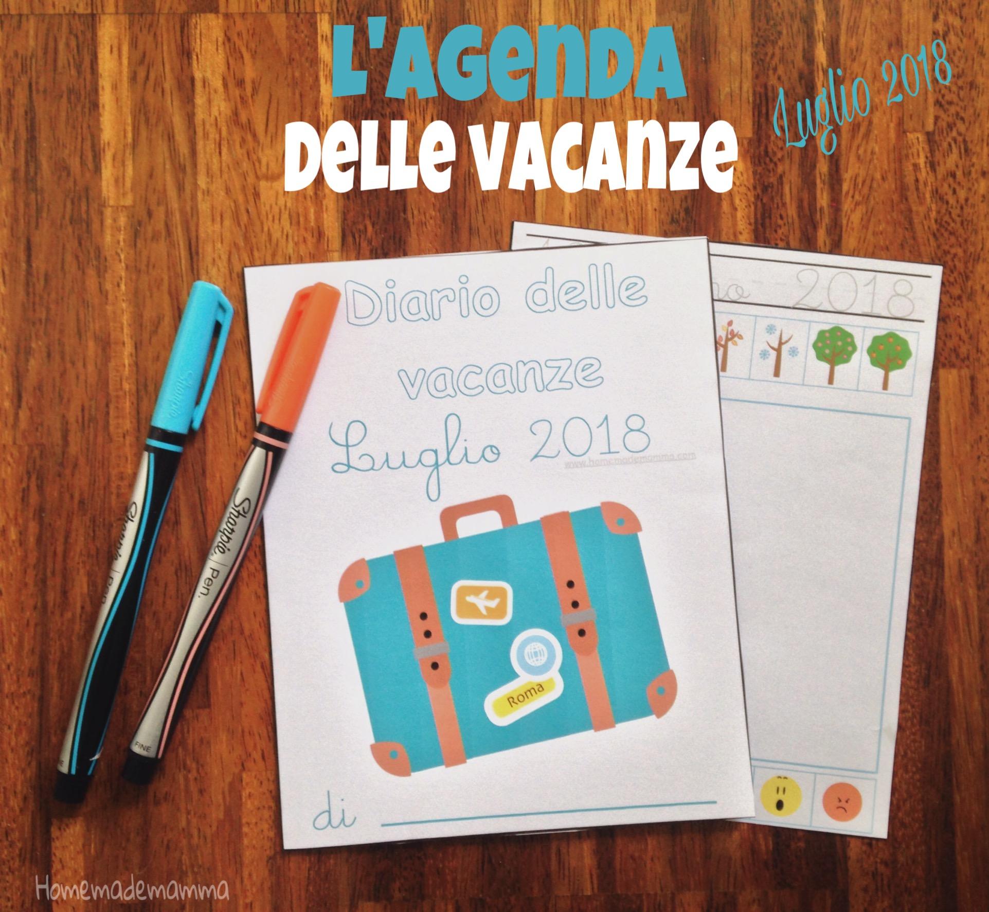 diario bambini vacanze da stampare