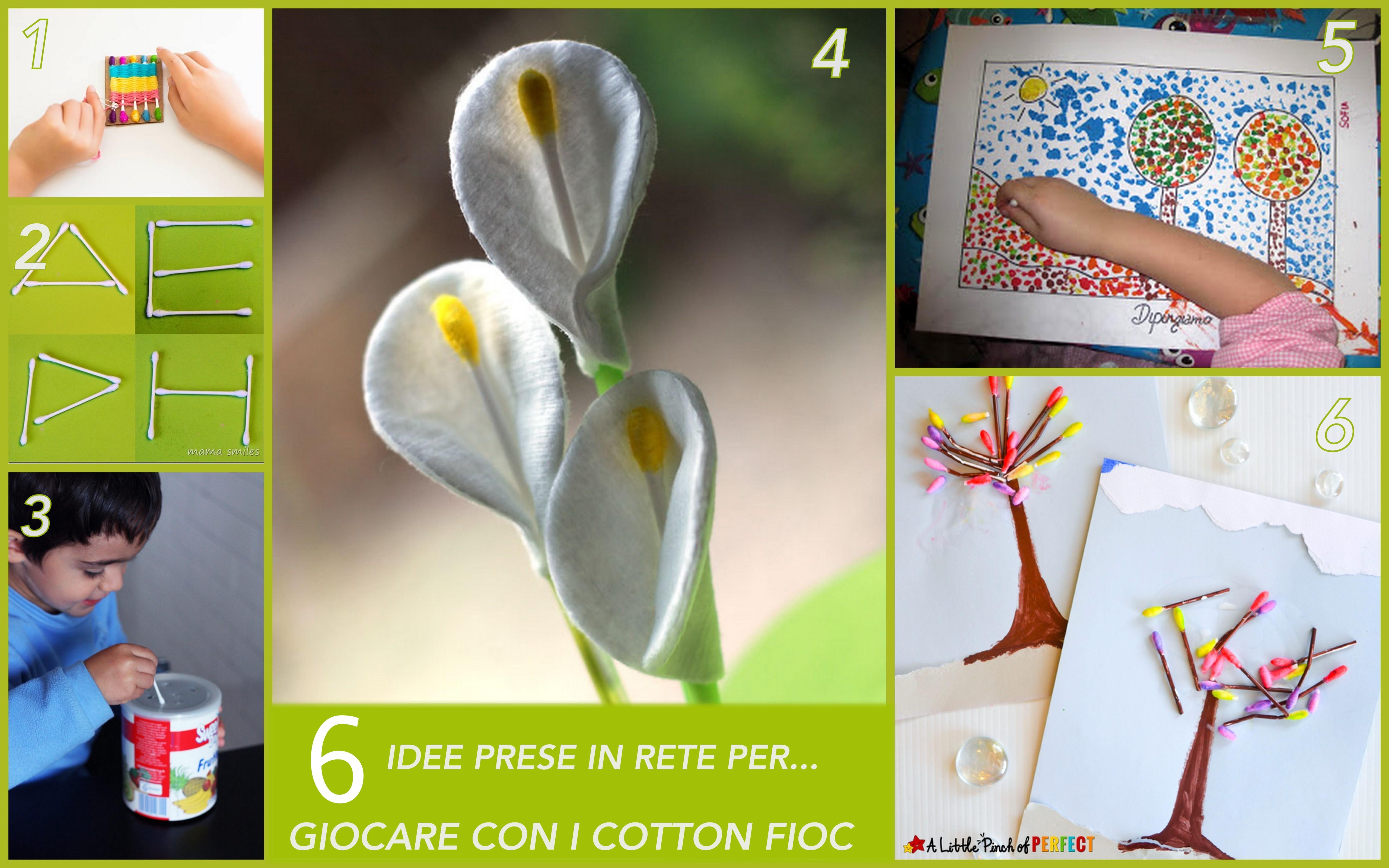 6 IDEE prese in rete per giocare con i cotton fioc